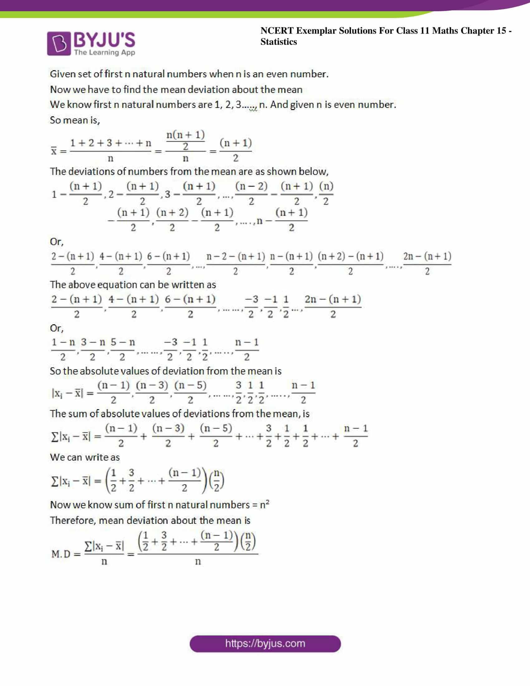 ncert exemplar sol class 11 maths chpt 15 statistics 05