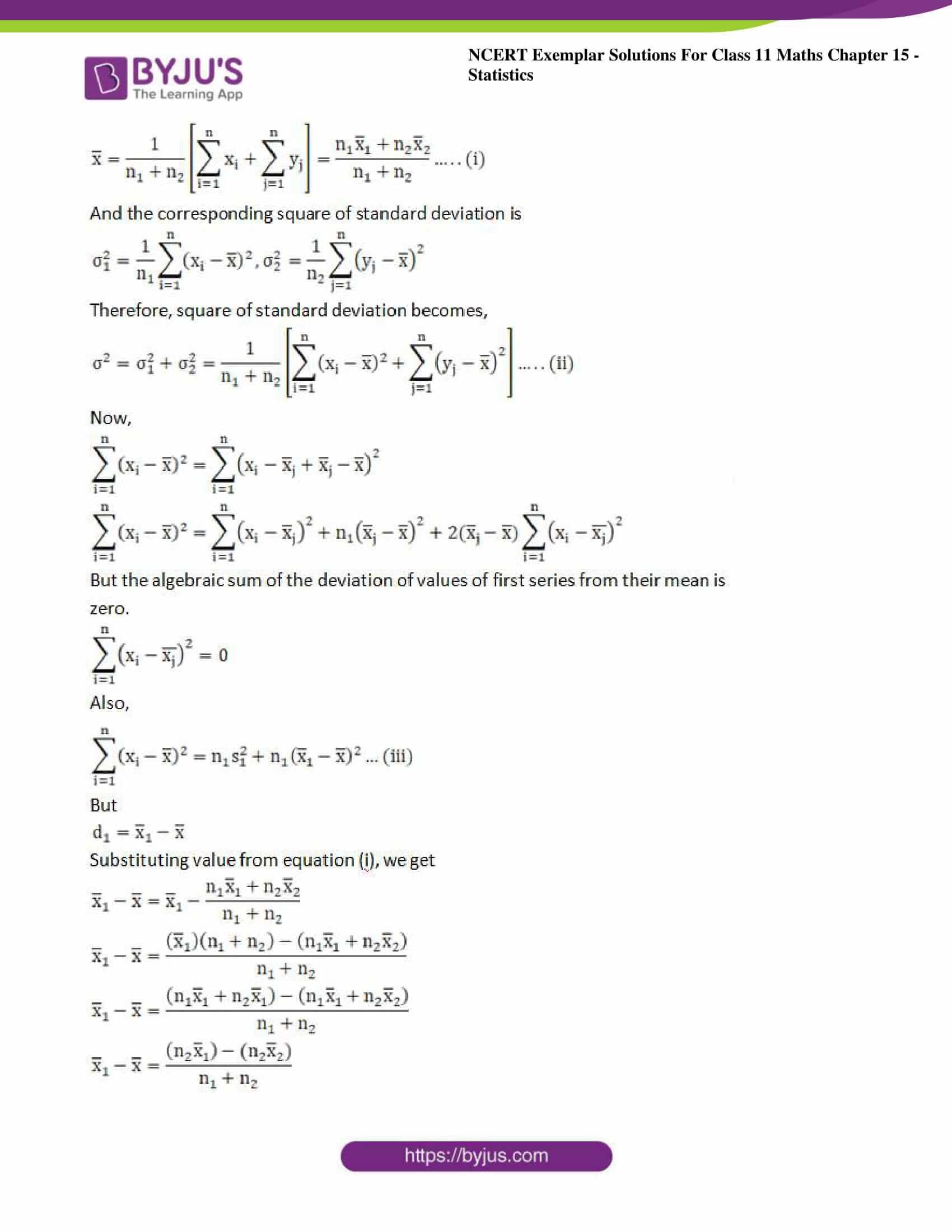 ncert exemplar sol class 11 maths chpt 15 statistics 10