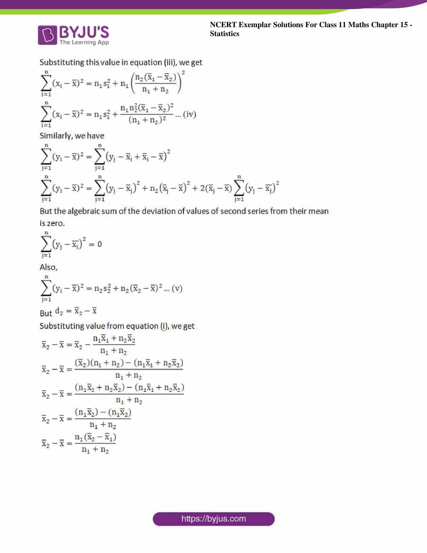 ncert exemplar sol class 11 maths chpt 15 statistics 11