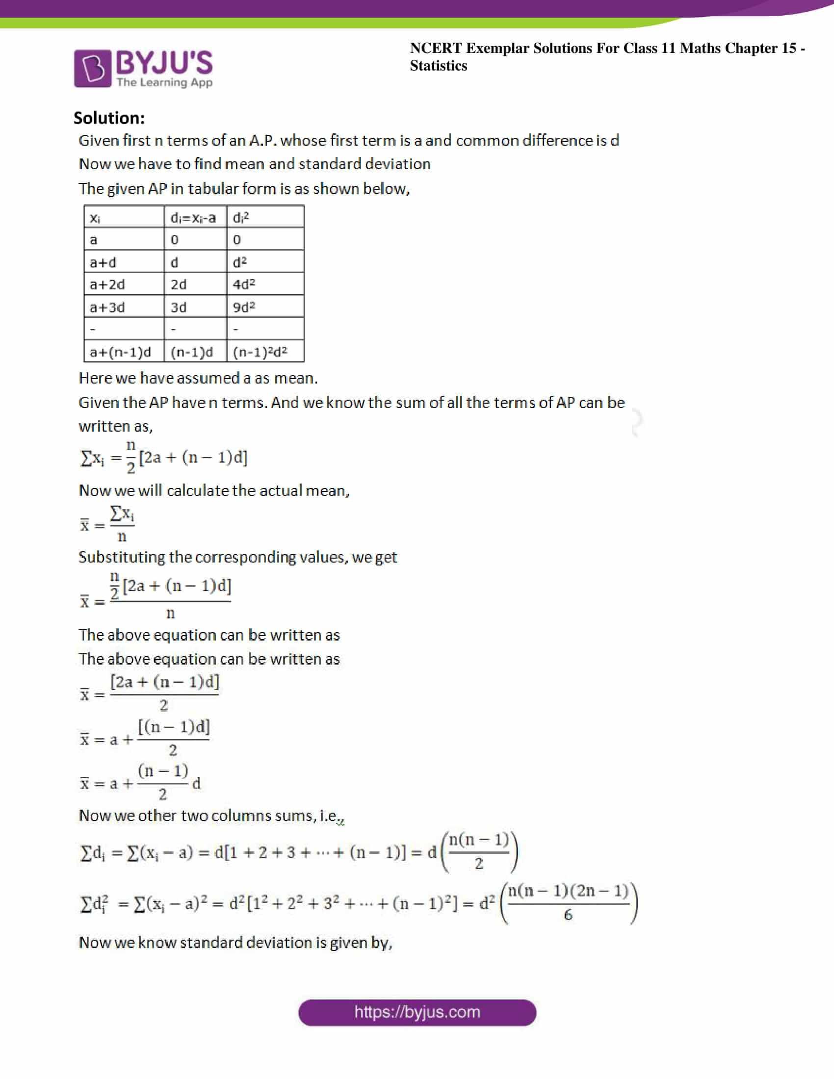 ncert exemplar sol class 11 maths chpt 15 statistics 28