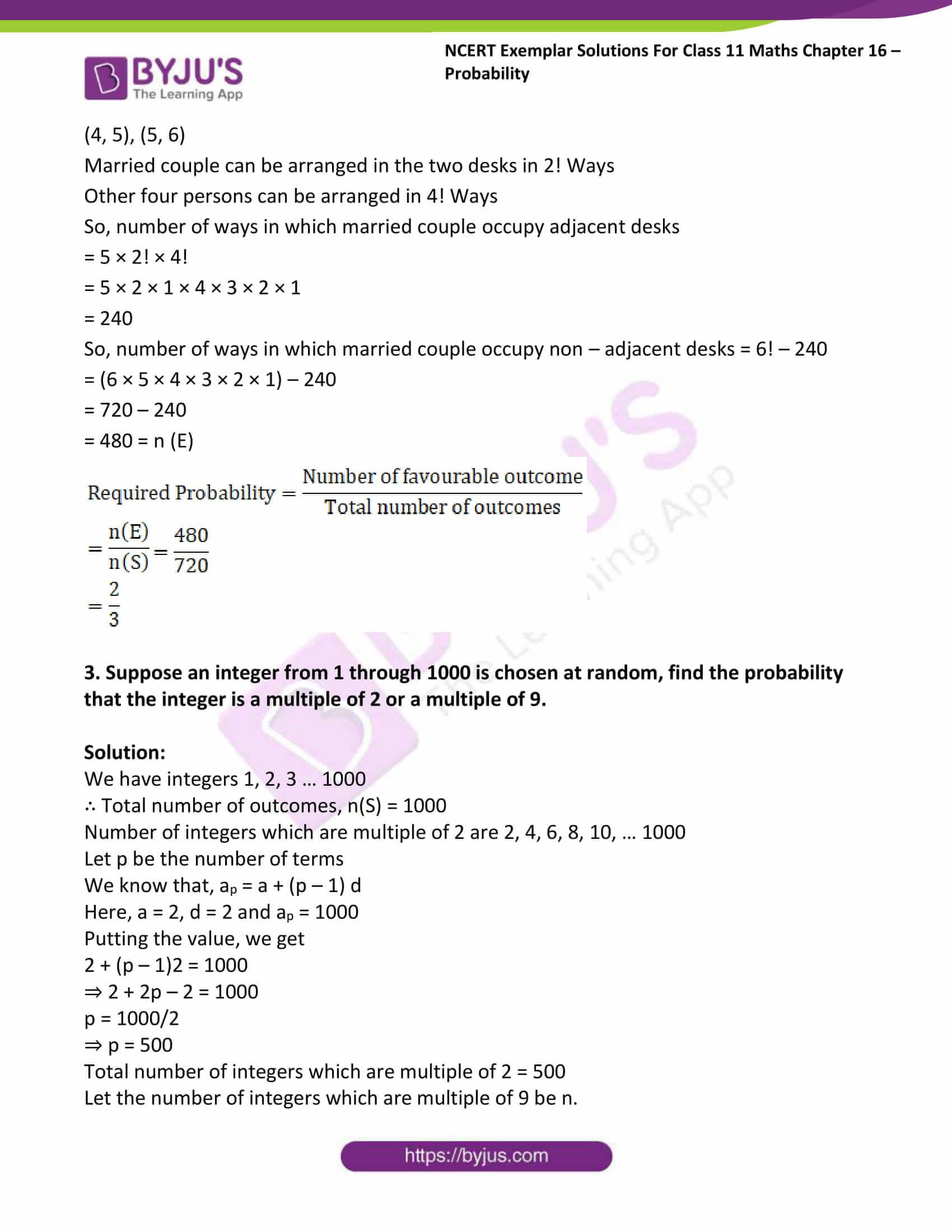 ncert exemplar sol class 11 maths chpt 16 probability 02