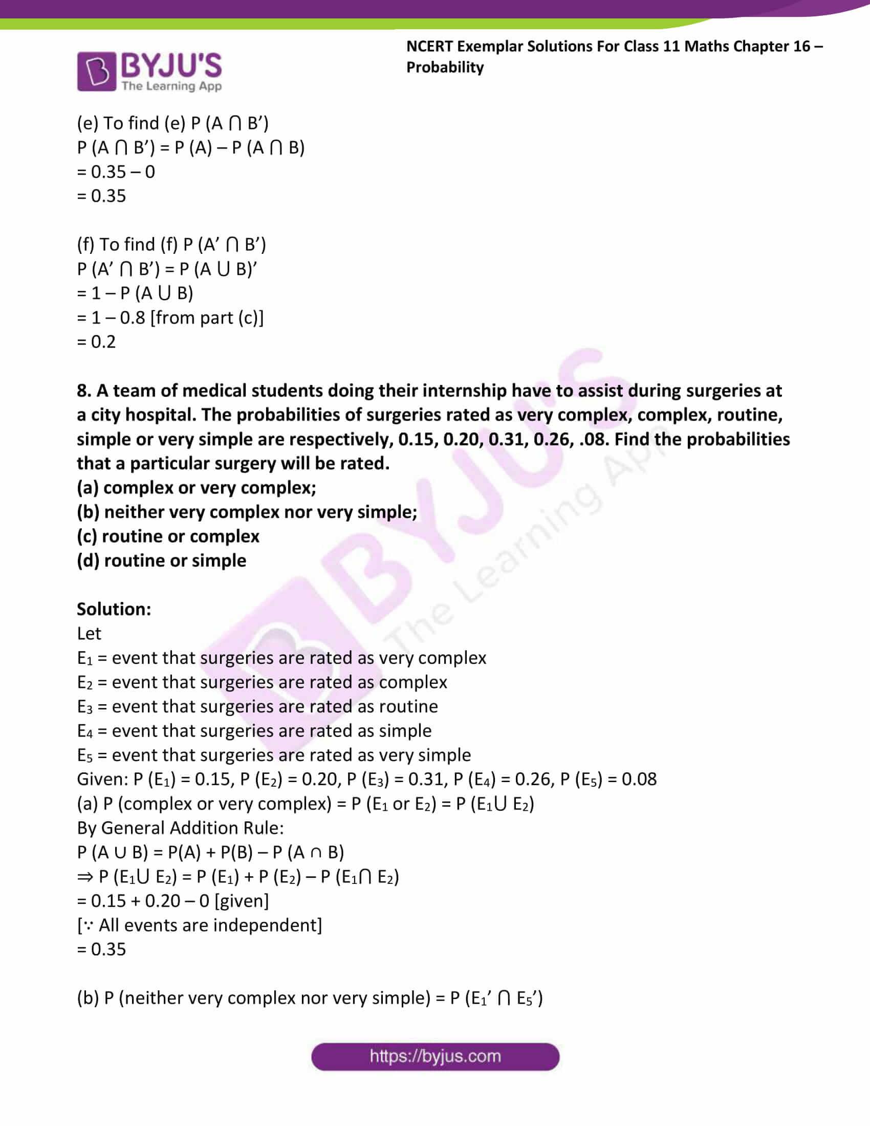 ncert exemplar sol class 11 maths chpt 16 probability 07