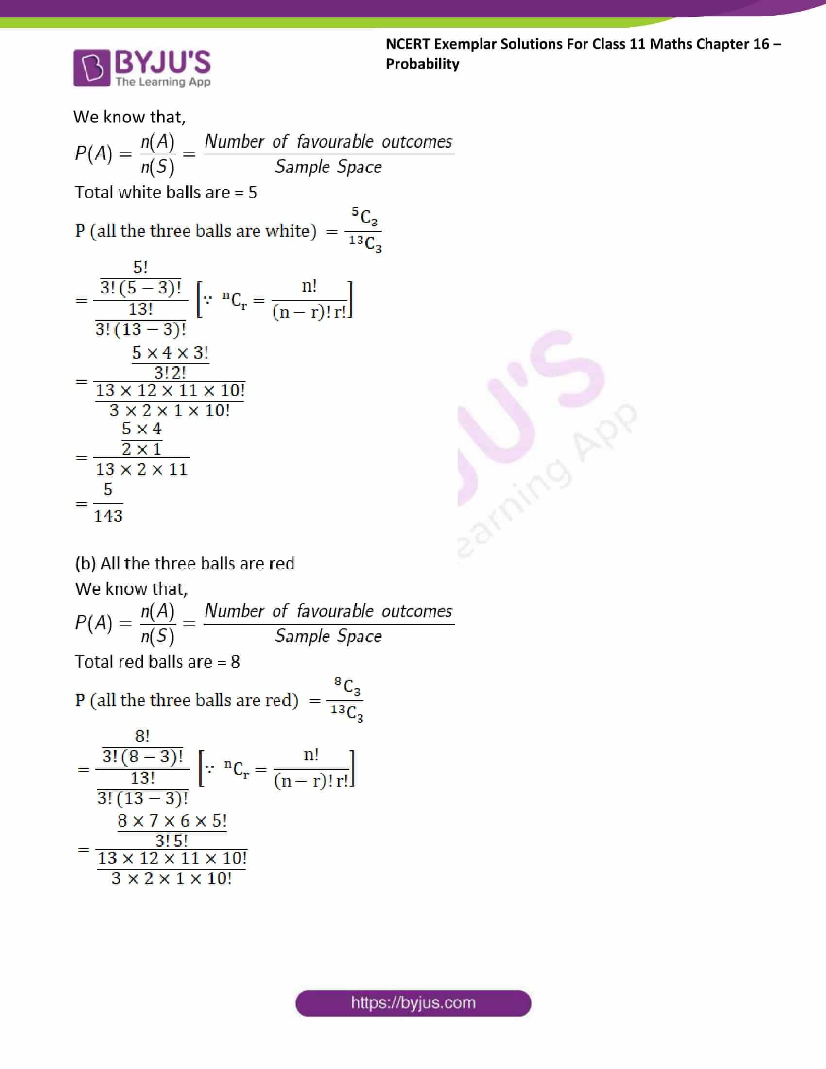 ncert exemplar sol class 11 maths chpt 16 probability 15
