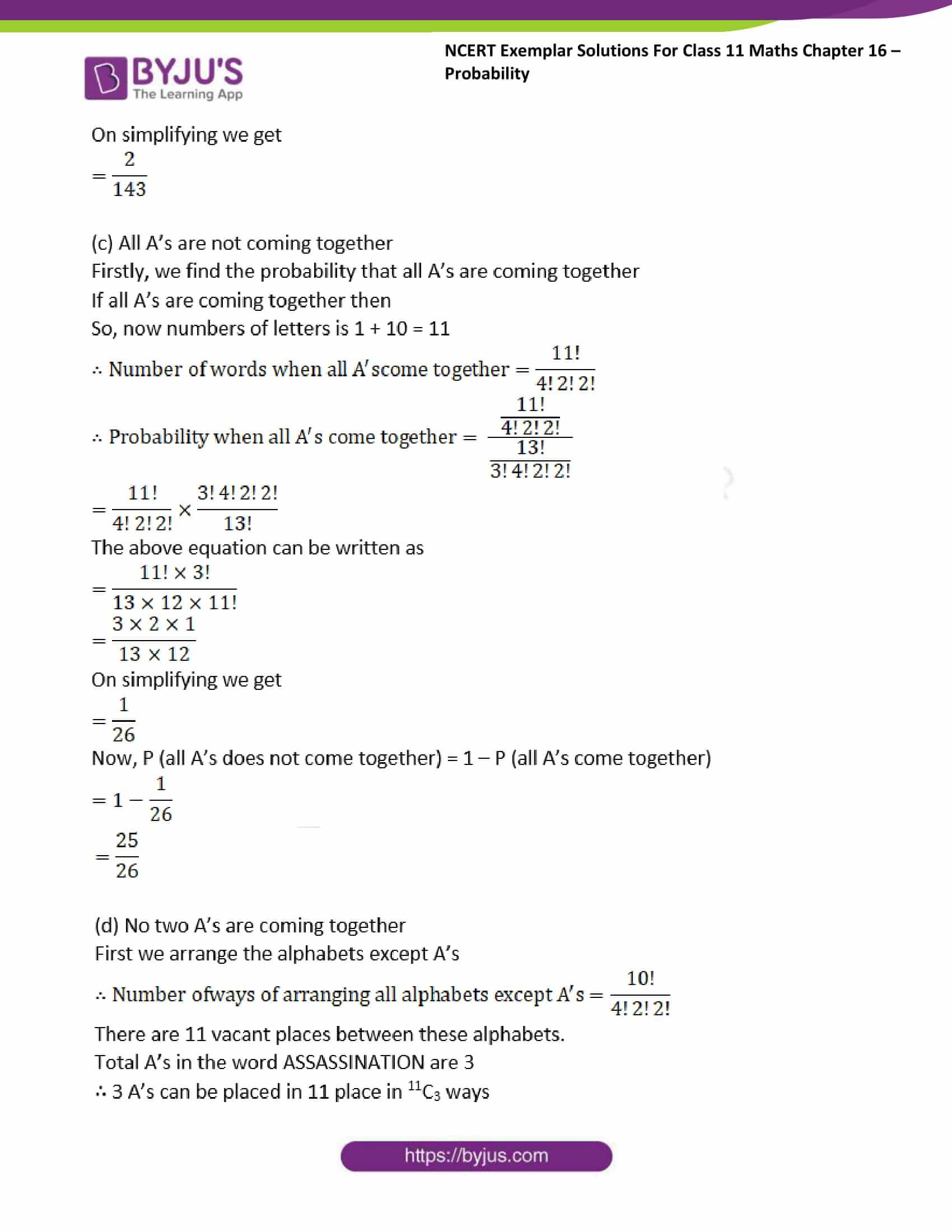 ncert exemplar sol class 11 maths chpt 16 probability 18