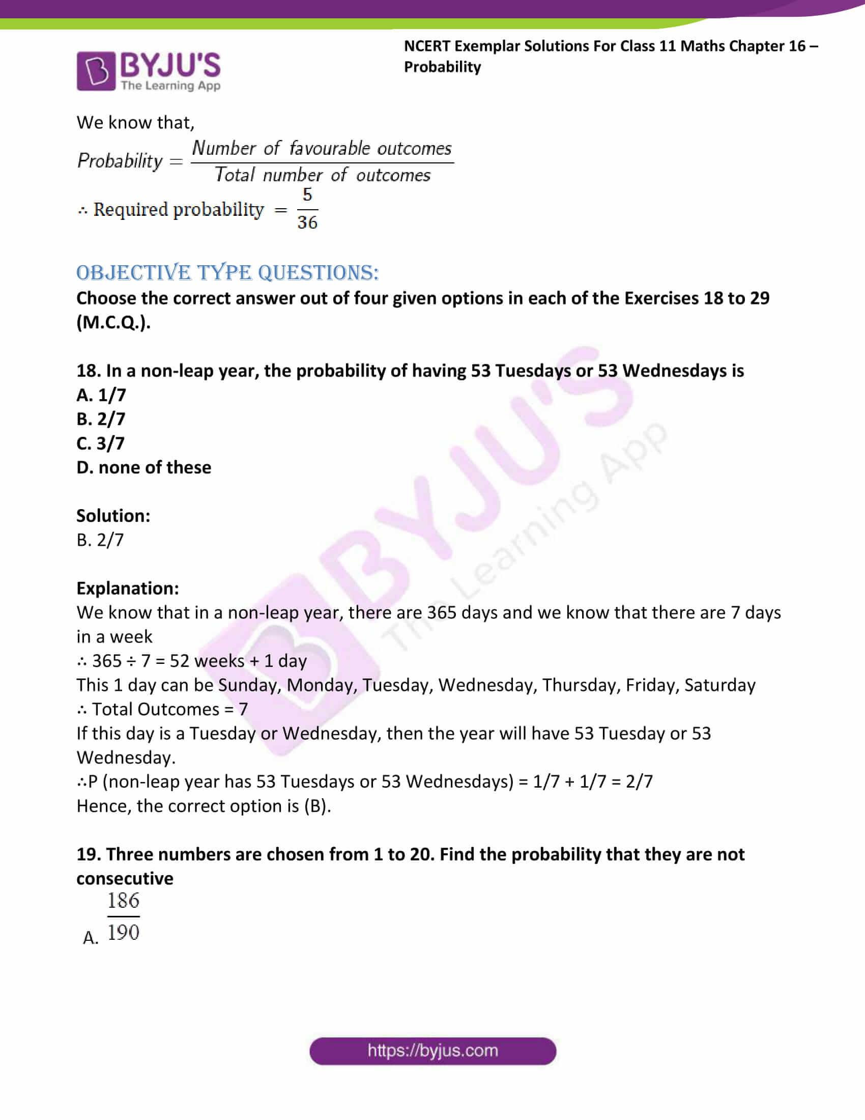 ncert exemplar sol class 11 maths chpt 16 probability 23