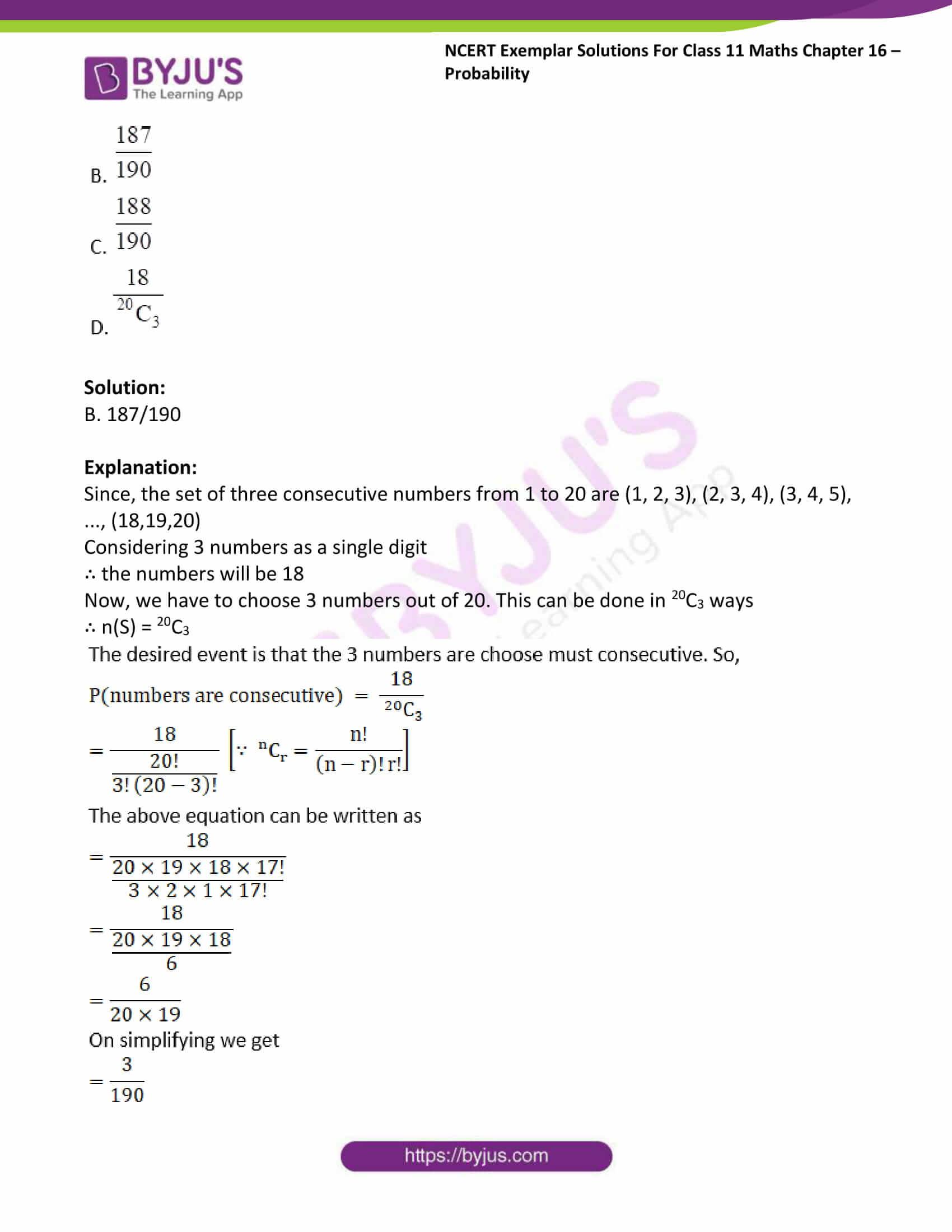 ncert exemplar sol class 11 maths chpt 16 probability 24