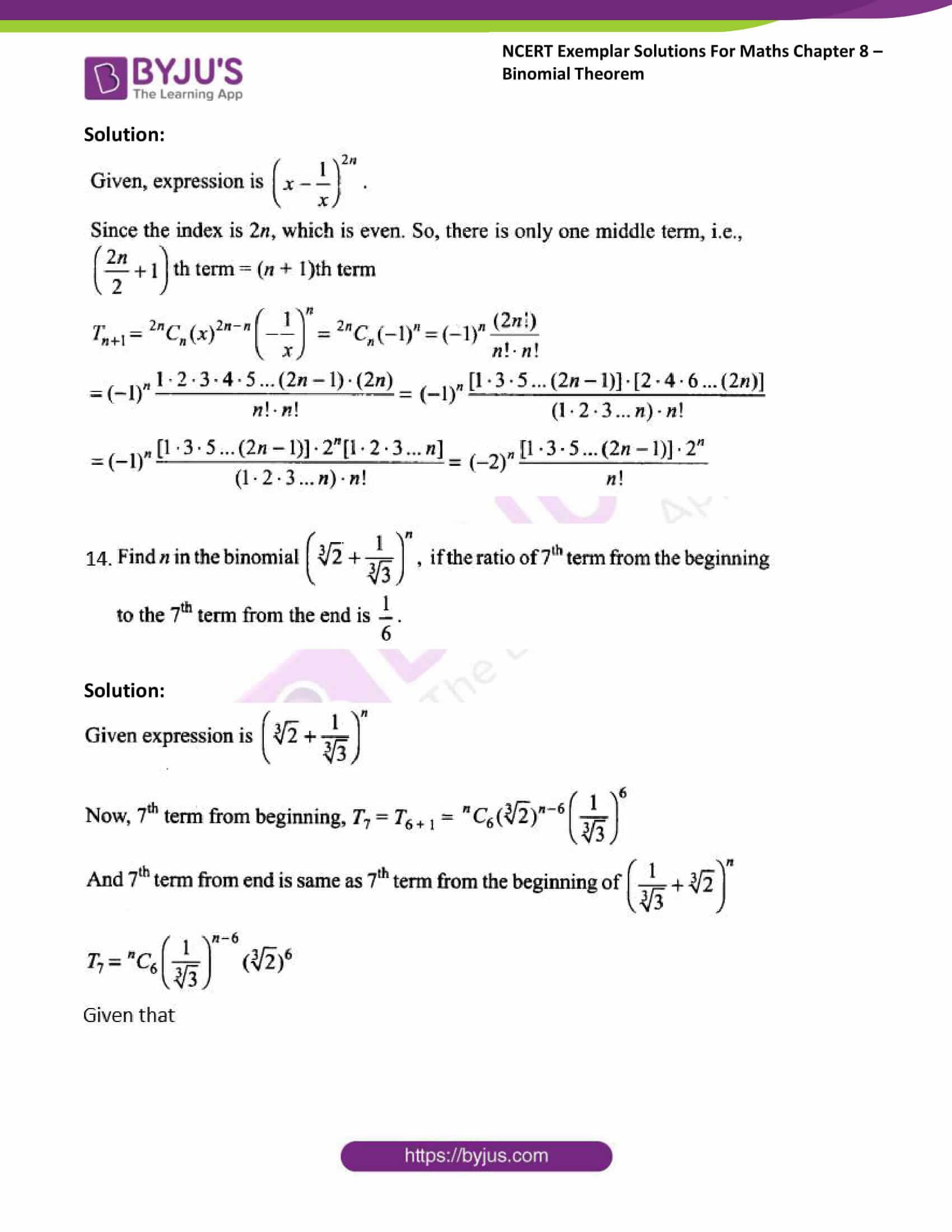 ncert exemplar sol class 11 maths chpt 8 binomial 08