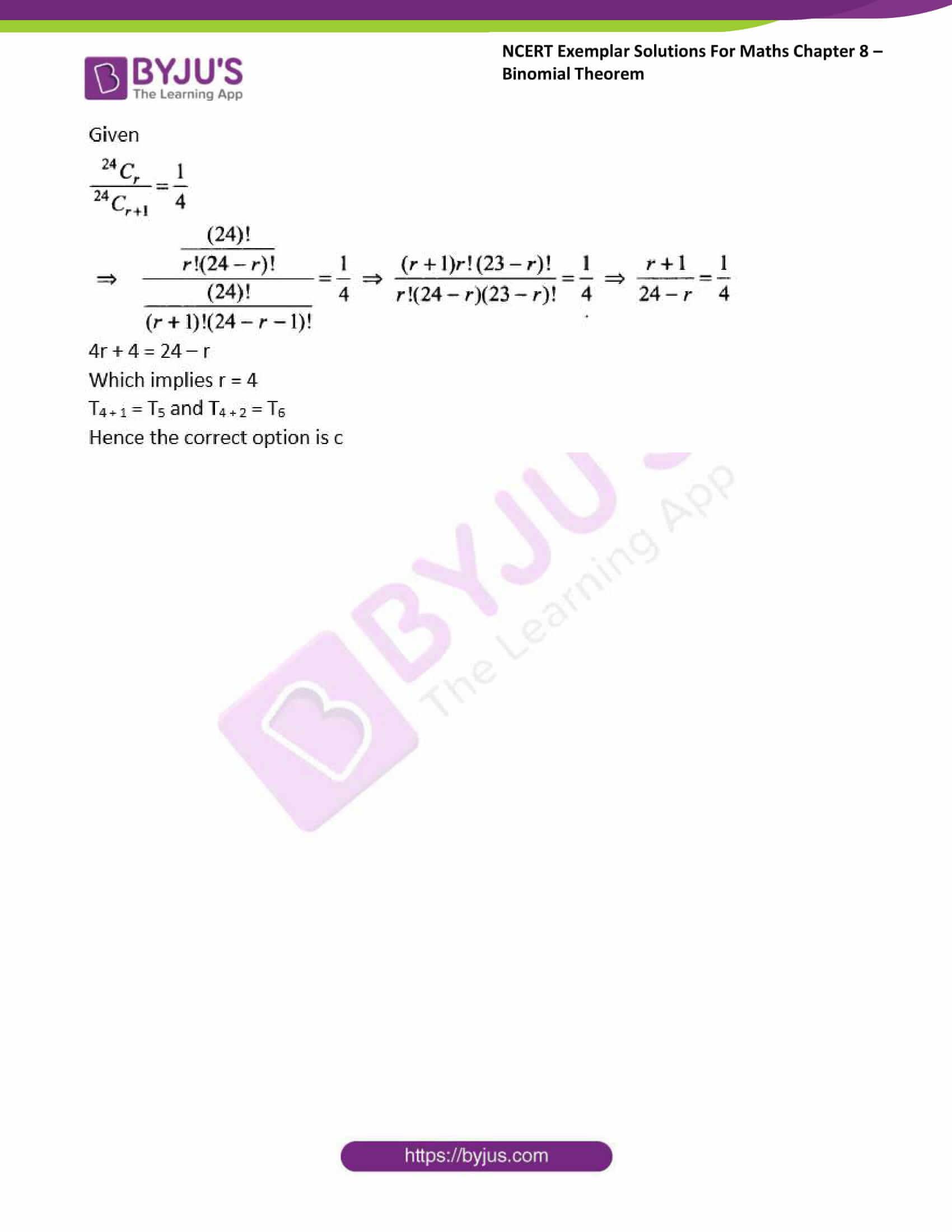 ncert exemplar sol class 11 maths chpt 8 binomial 13