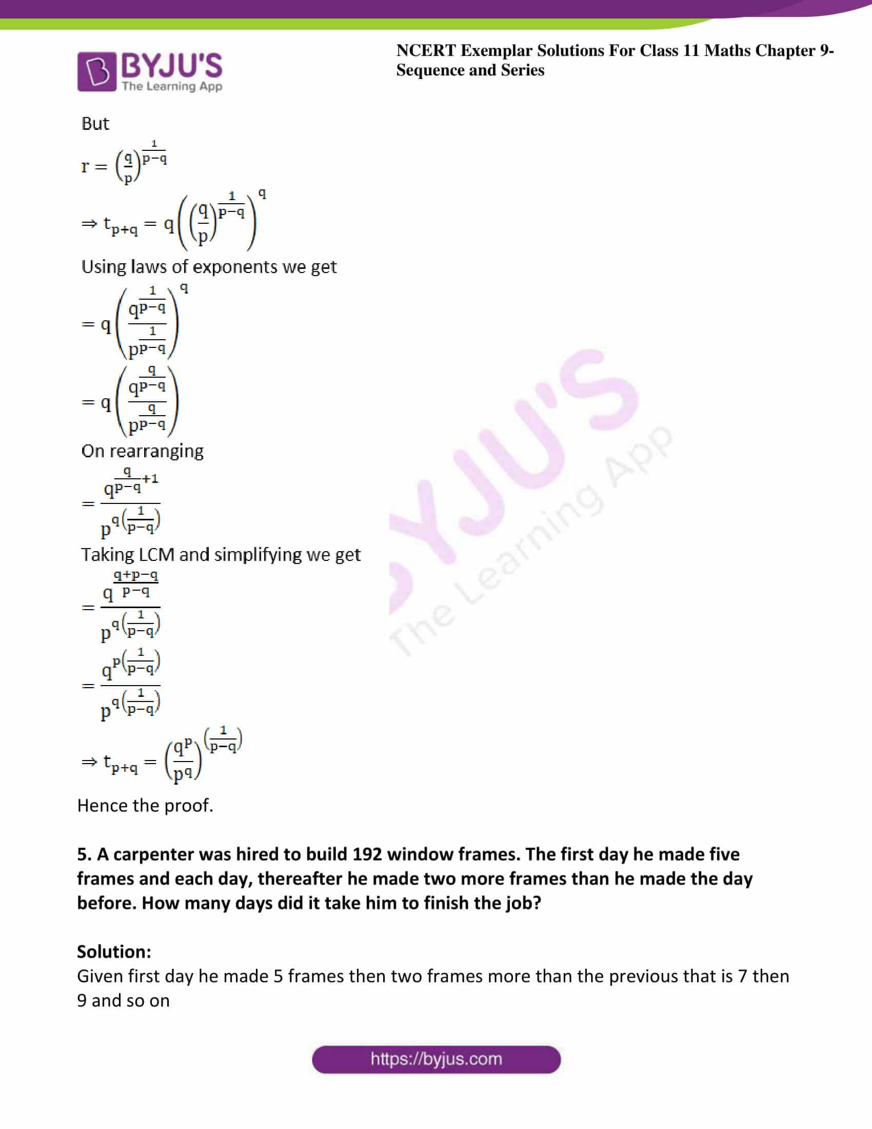 ncert exemplar sol class 11 maths chpt 9 sequence 05