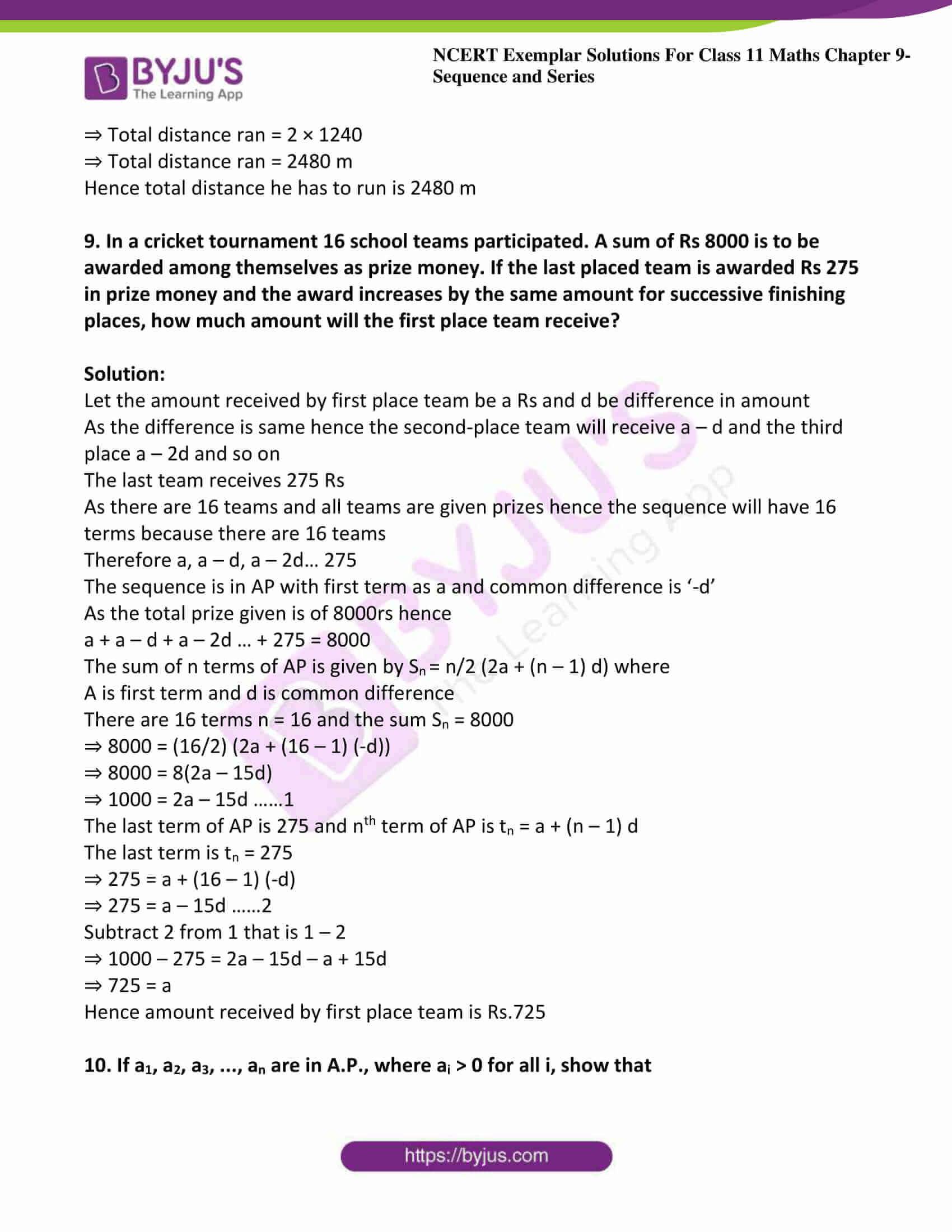 ncert exemplar sol class 11 maths chpt 9 sequence 09