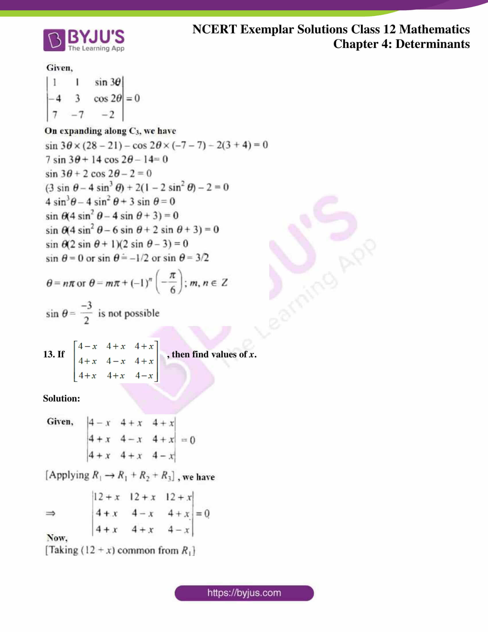 ncert exemplar sol class 12 math ch4 09