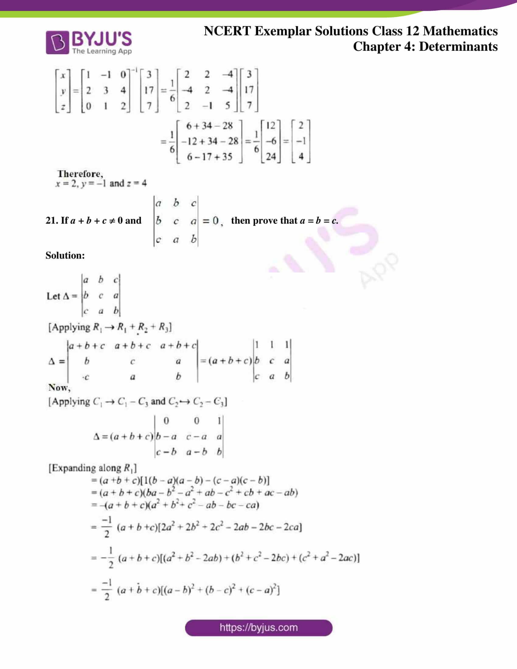 ncert exemplar sol class 12 math ch4 16
