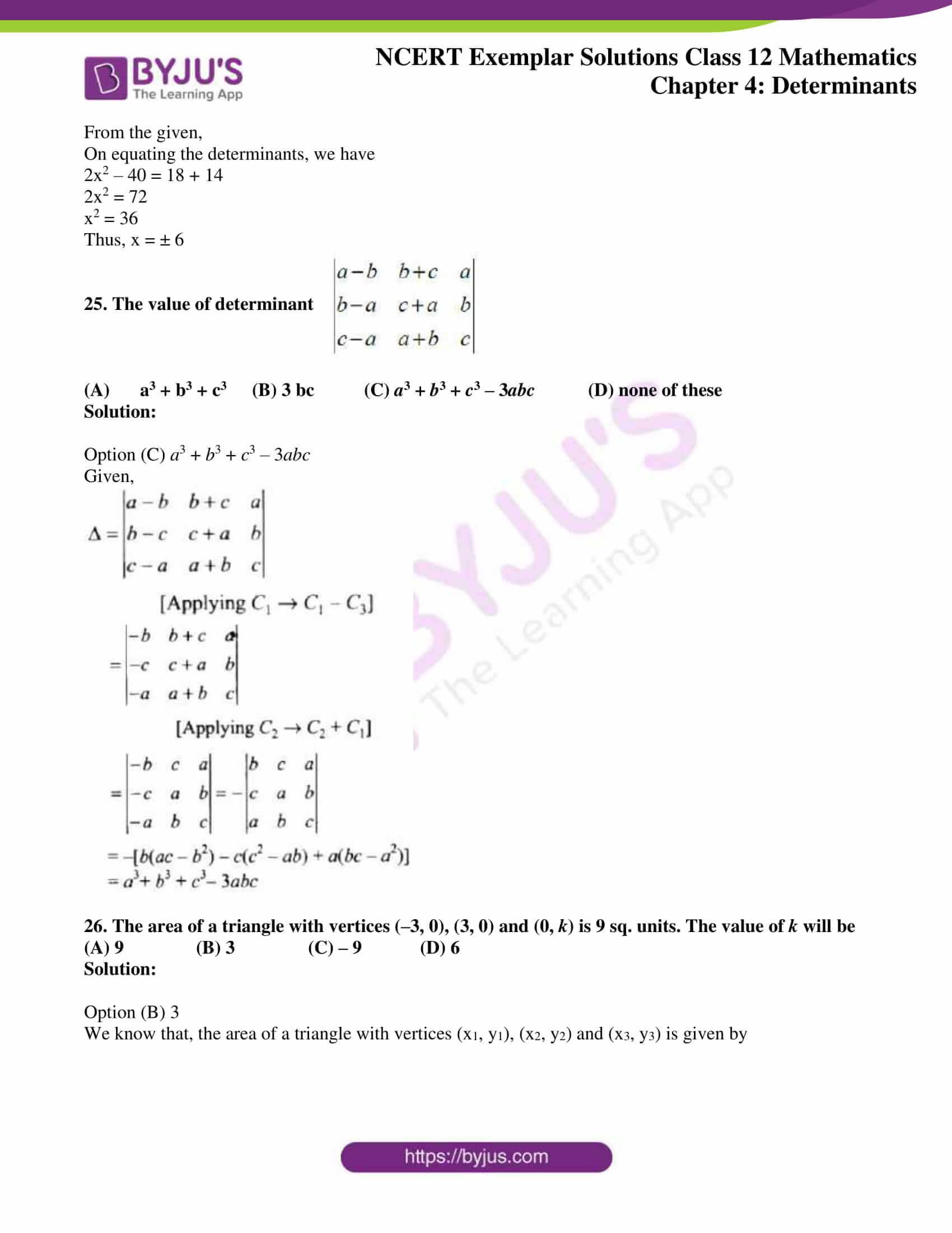 ncert exemplar sol class 12 math ch4 19