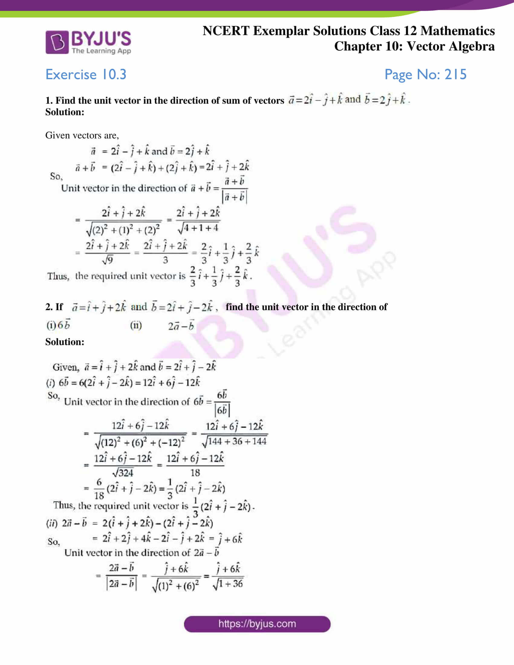 ncert exemplar sol class 12 mathematics ch 10 01