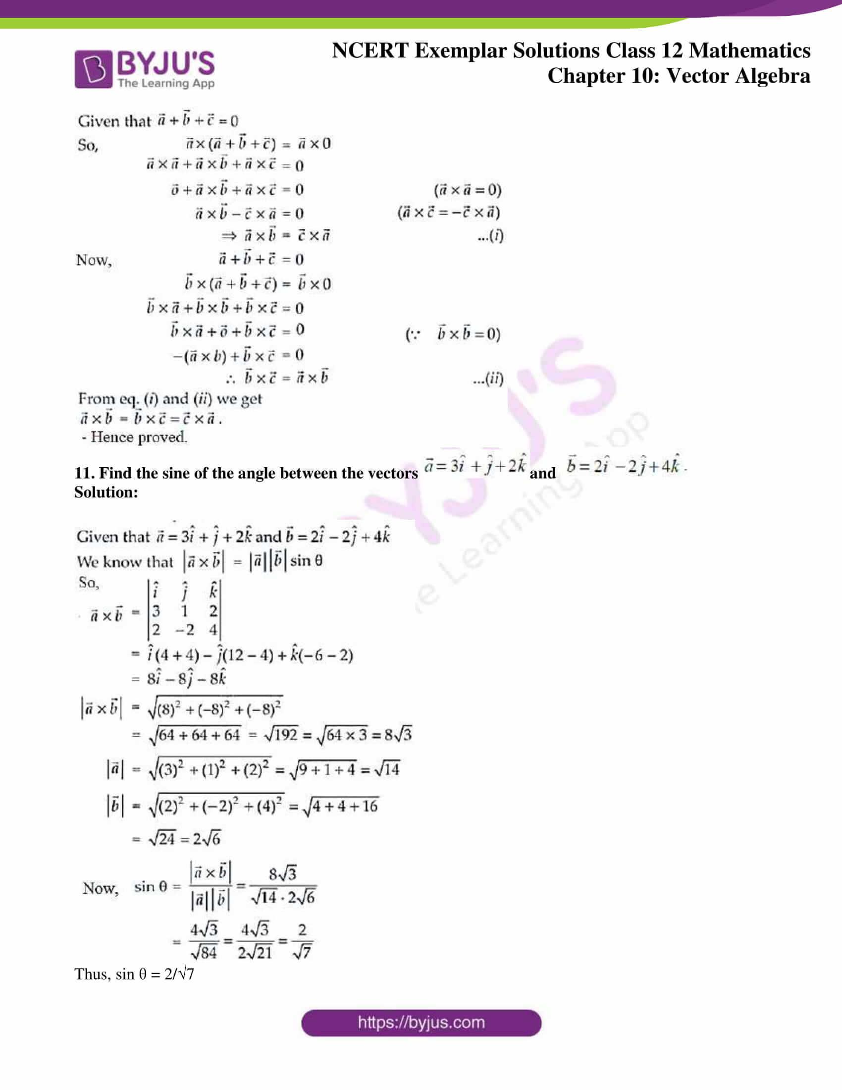 ncert exemplar sol class 12 mathematics ch 10 06