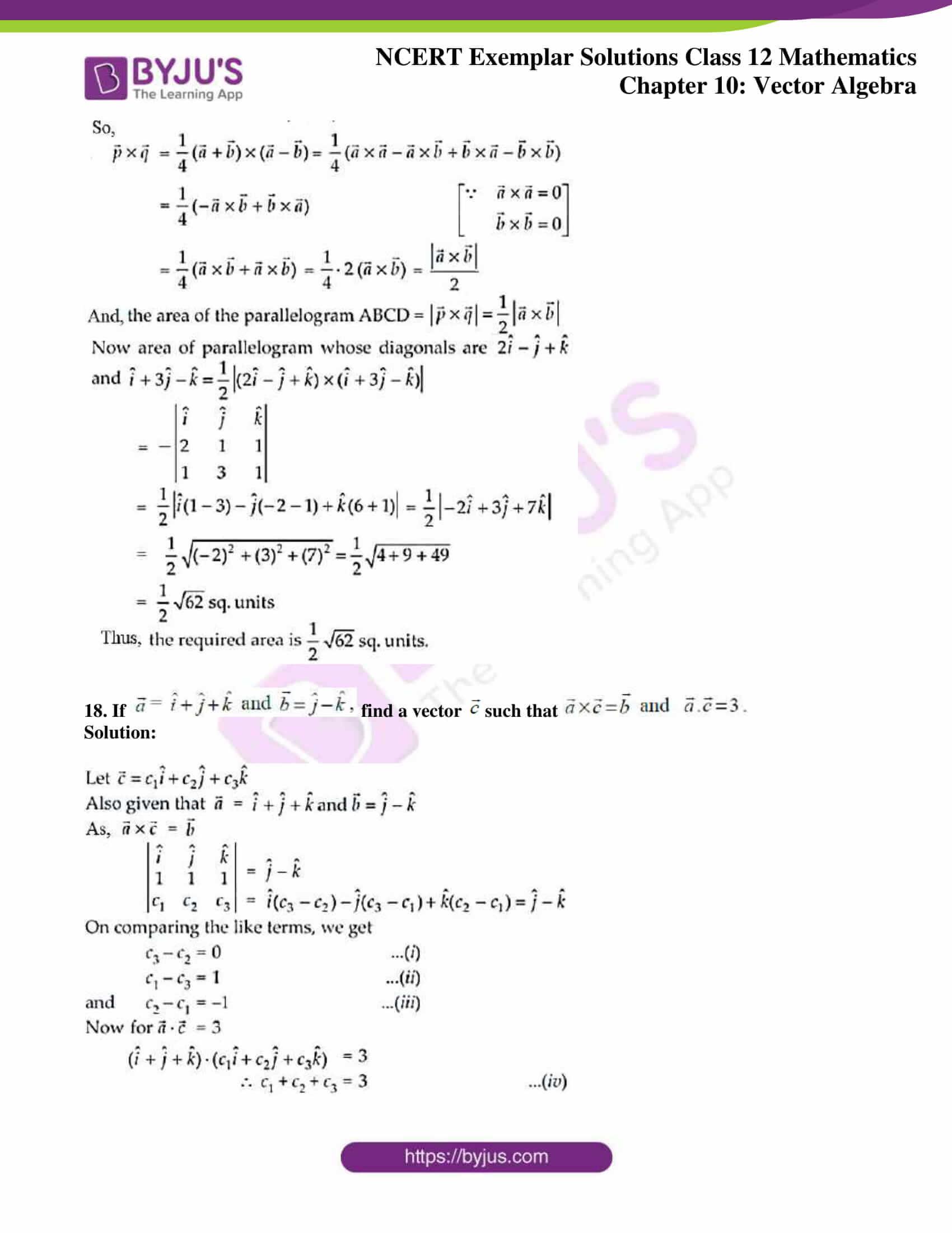 ncert exemplar sol class 12 mathematics ch 10 10