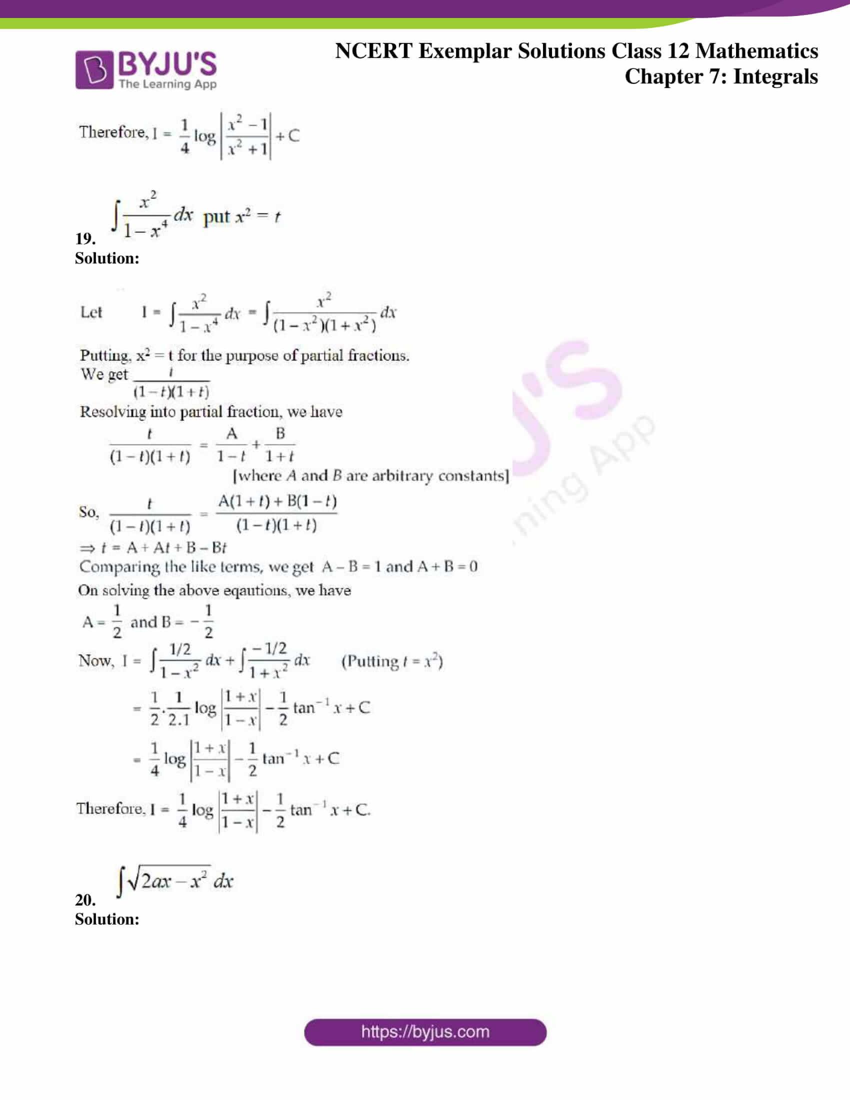 ncert exemplar sol class 12 mathematics ch 7 10
