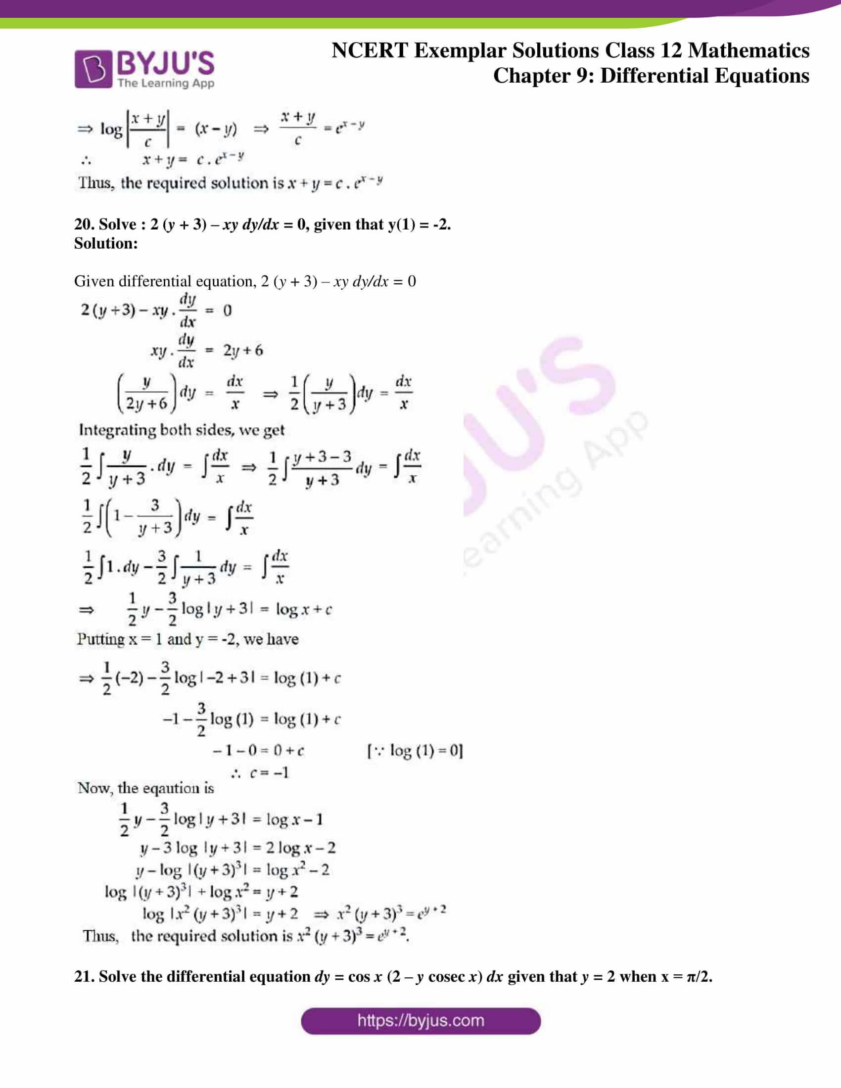 ncert exemplar sol class 12 mathematics ch 9 12