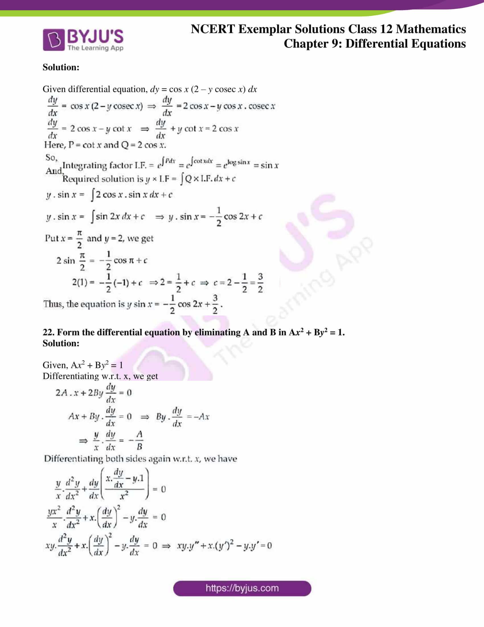 ncert exemplar sol class 12 mathematics ch 9 13