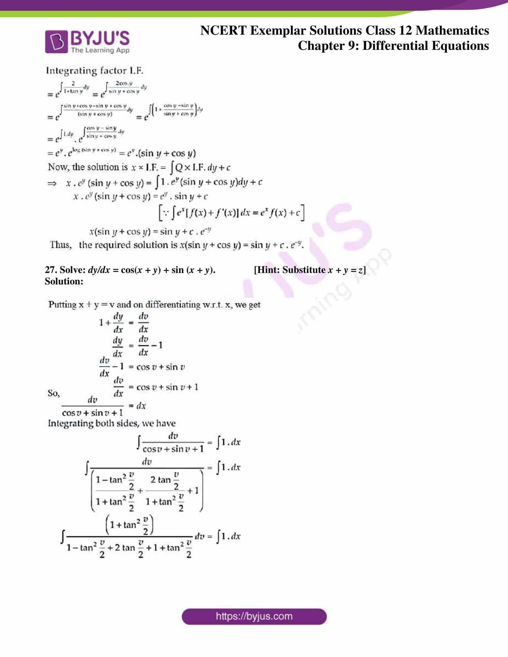 ncert exemplar sol class 12 mathematics ch 9 16