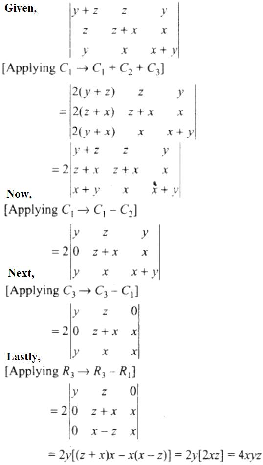 NCERT Exemplar Solutions Class 12 Mathematics Chapter 4 - 18