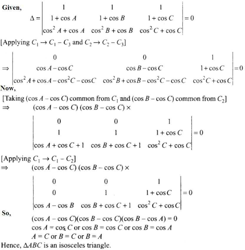 NCERT Exemplar Solutions Class 12 Mathematics Chapter 4 - 35