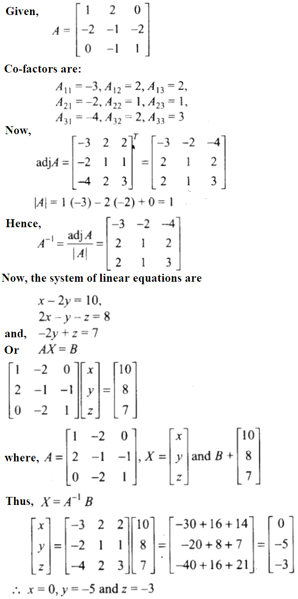 NCERT Exemplar Solutions Class 12 Mathematics Chapter 4 - 41