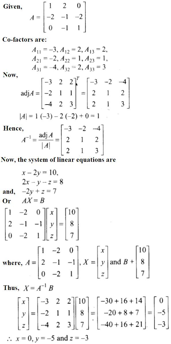 NCERT Exemplar Solutions Class 12 Mathematics Chapter 4 - 42