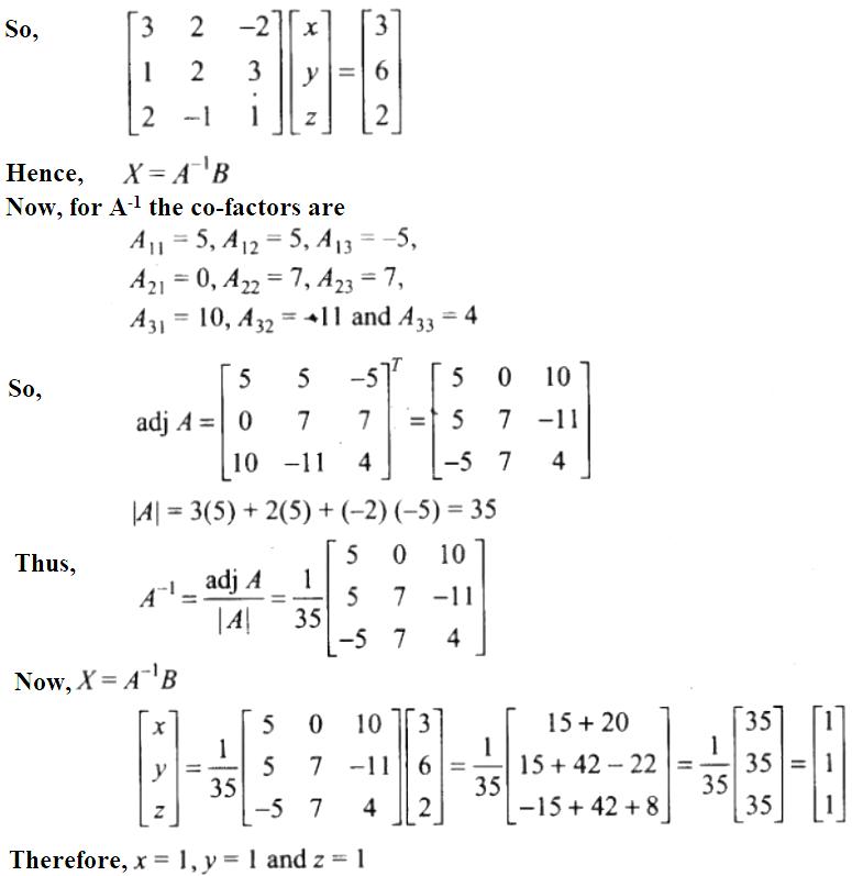 NCERT Exemplar Solutions Class 12 Mathematics Chapter 4 - 44