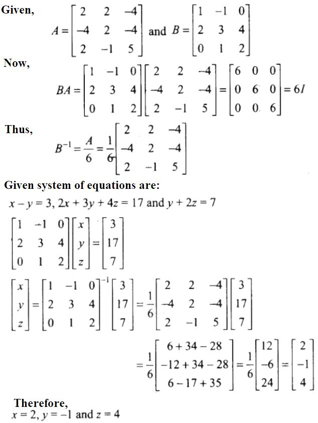 NCERT Exemplar Solutions Class 12 Mathematics Chapter 4 - 47