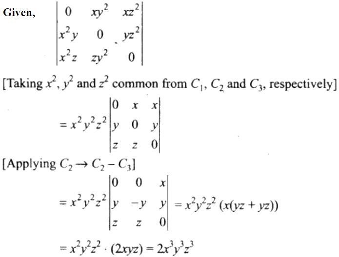 NCERT Exemplar Solutions Class 12 Mathematics Chapter 4 - 7
