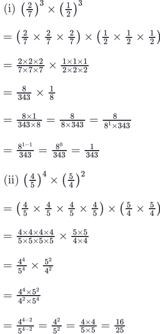 RBSE Class 8 Maths Solutions Chapter 3 Question Number 1 : Answers 1,2