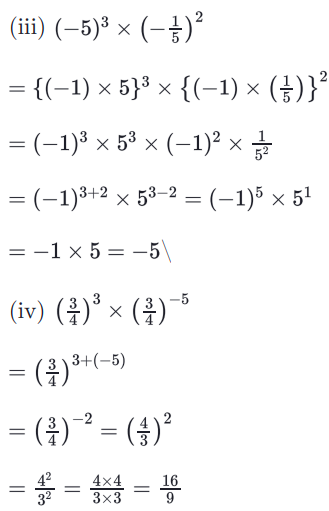 RBSE Class 8 Maths Solutions Chapter 3 Question Number 1 : Answers 3 & 4