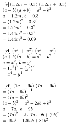RBSE Class 8 Maths Solutions Chapter 9 Exercise 9.3 Question Number 1 : Answers