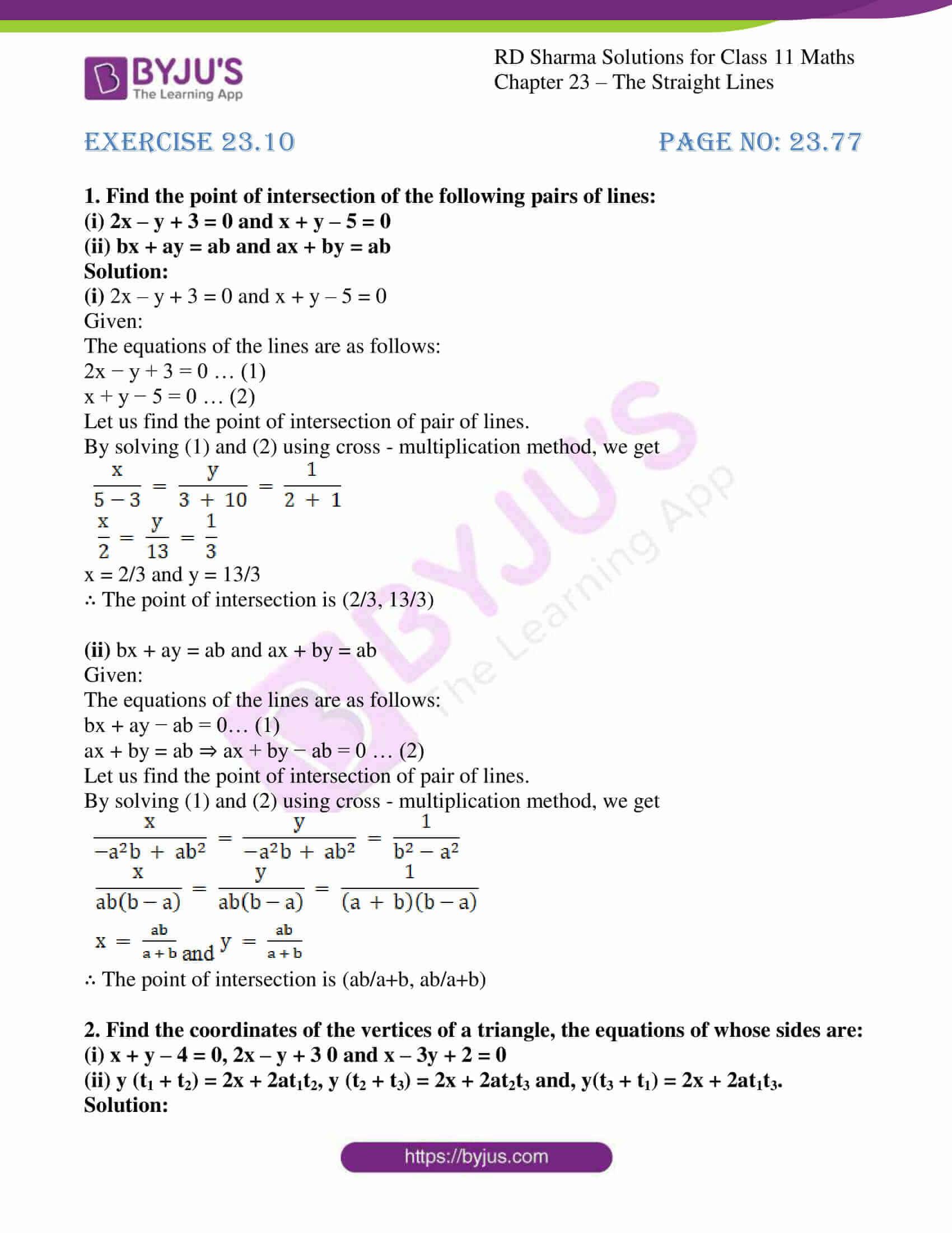 rd sharma class 11 maths chapter 23 ex 10 1