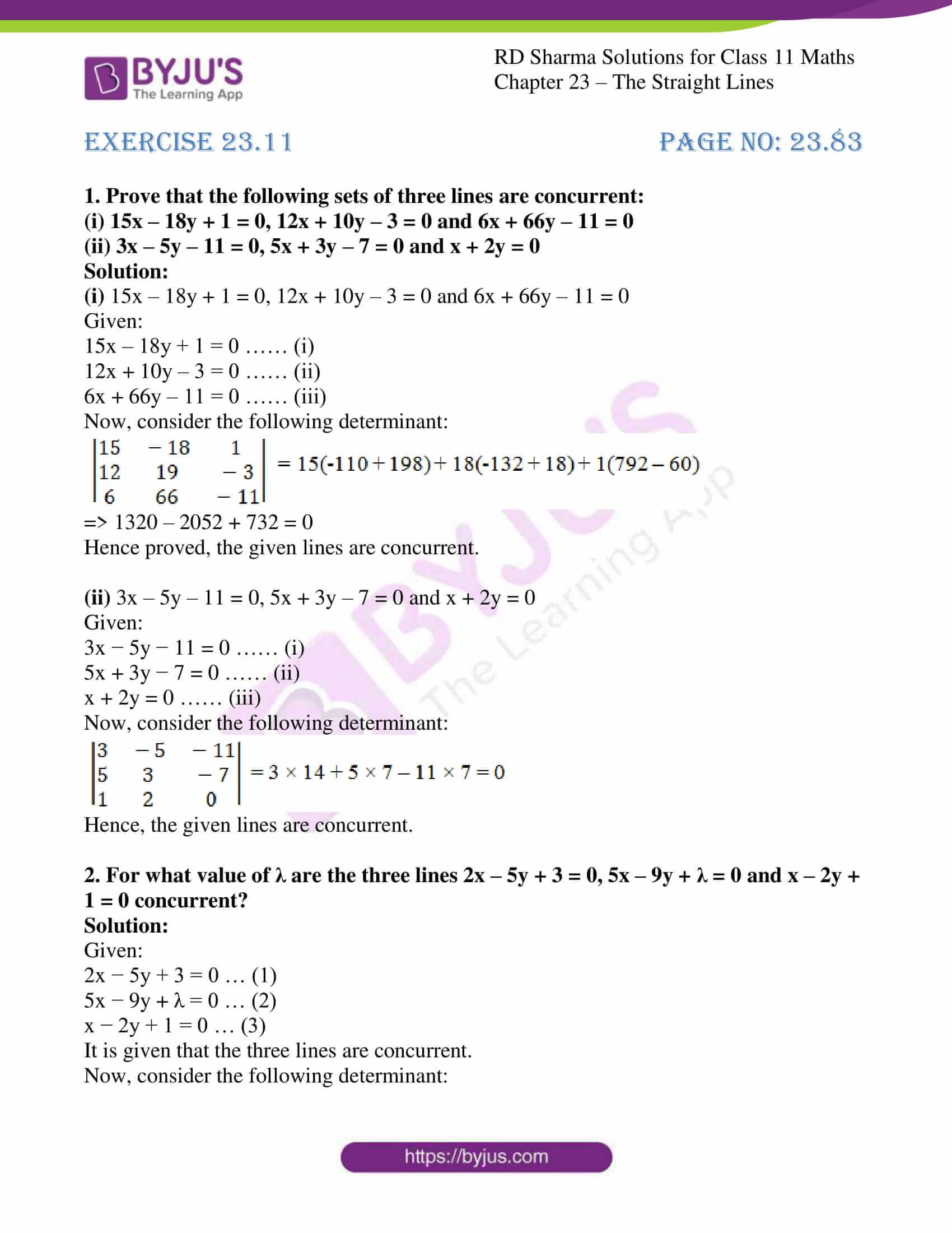 rd sharma class 11 maths chapter 23 ex 11 1