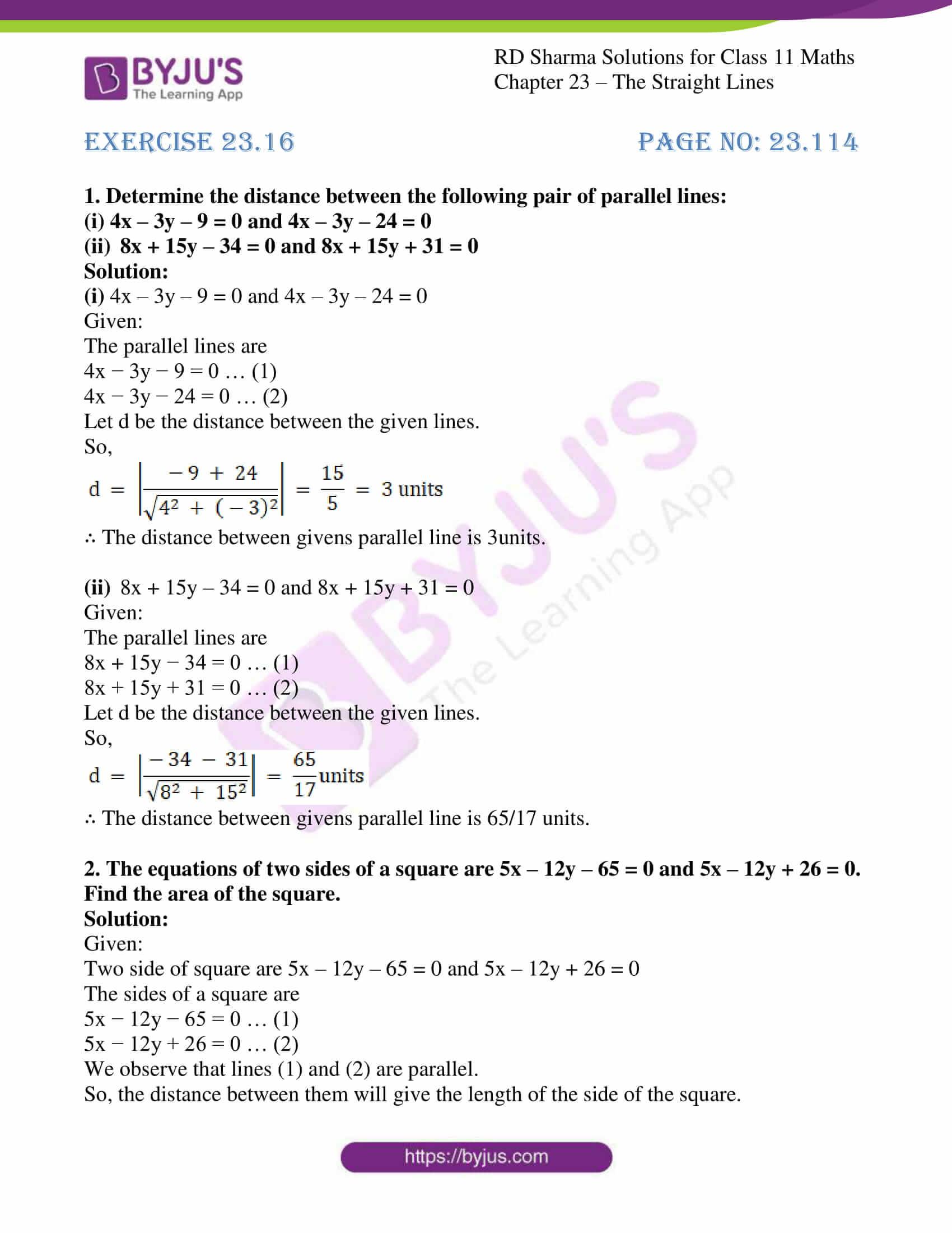 rd sharma class 11 maths chapter 23 ex 16 1