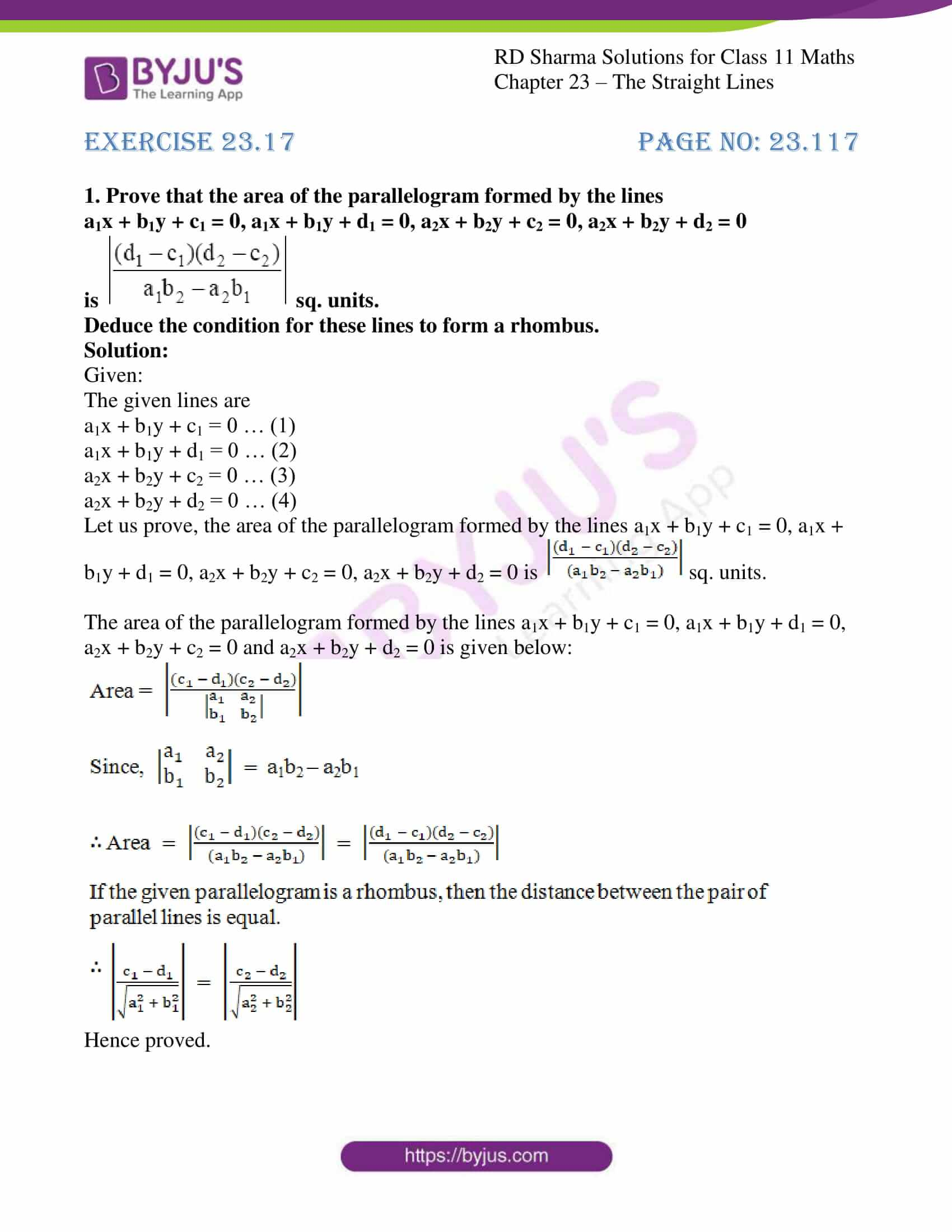 rd sharma class 11 maths chapter 23 ex 17 1