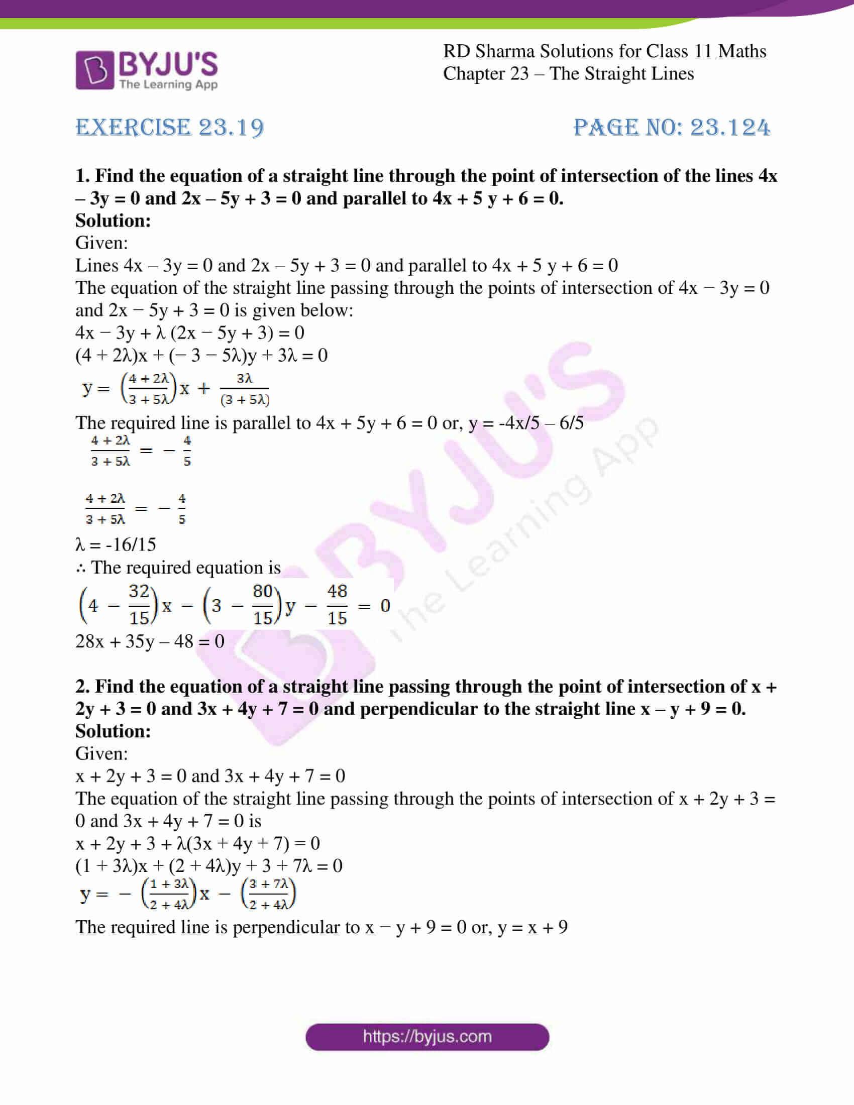 rd sharma class 11 maths chapter 23 ex 19 1