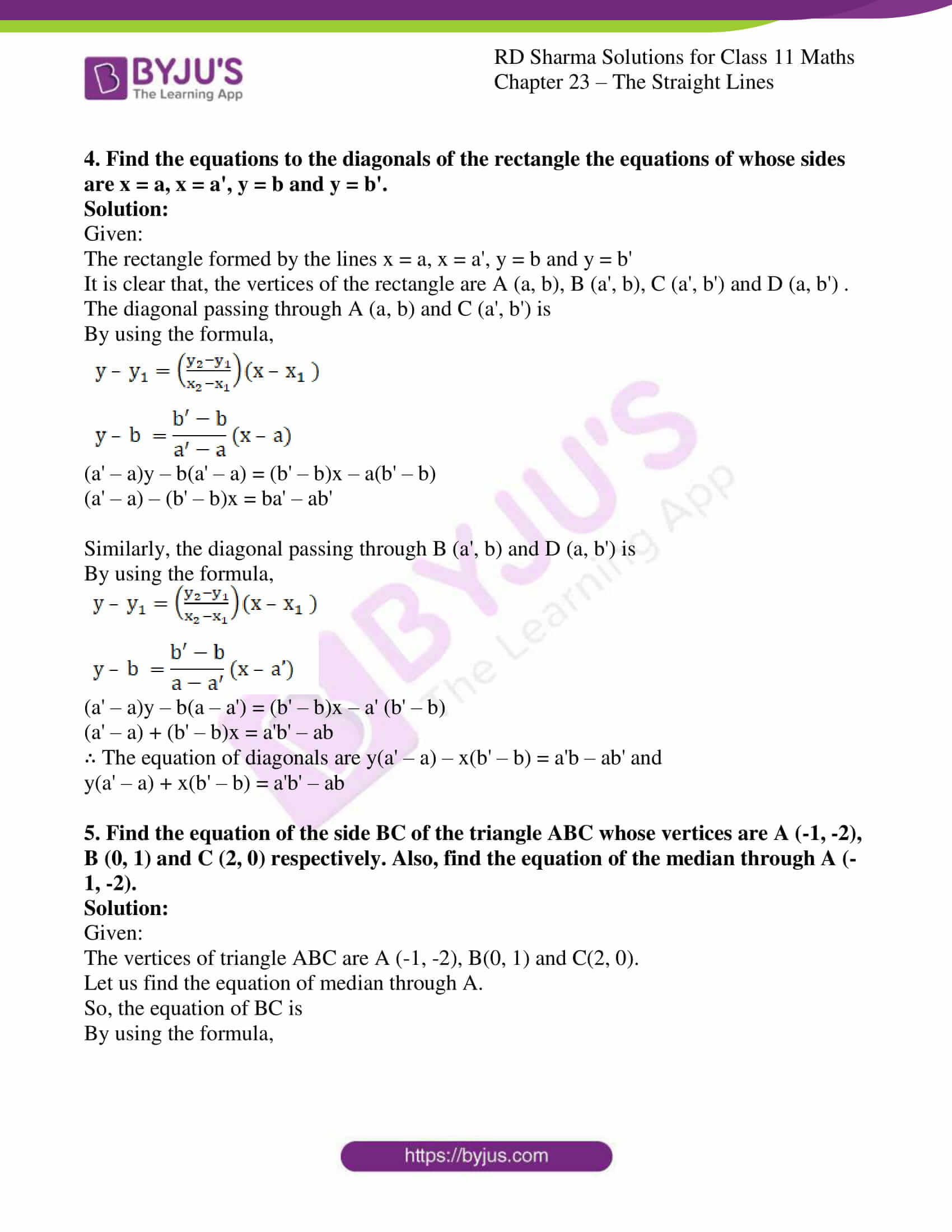 rd sharma class 11 maths chapter 23 ex 5 5