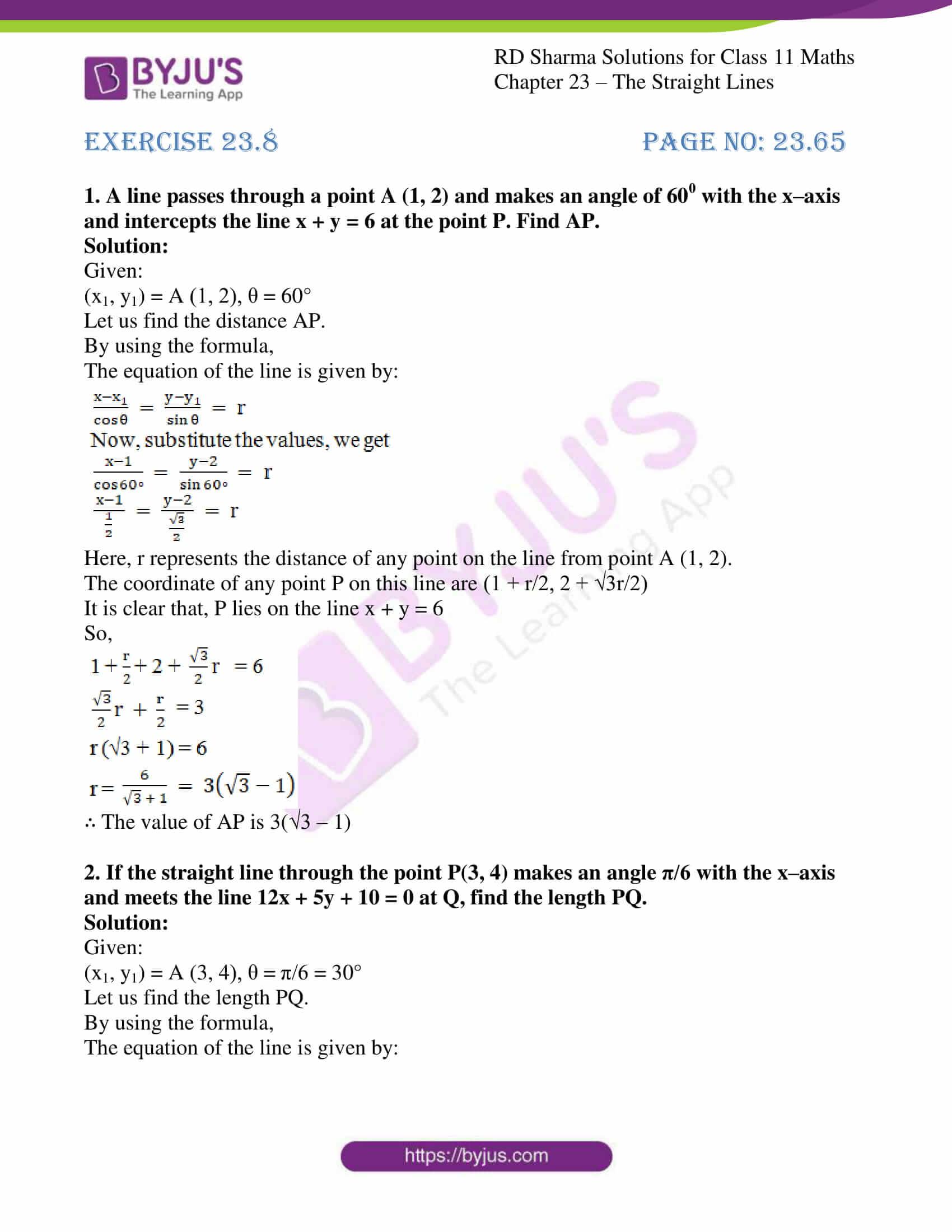 rd sharma class 11 maths chapter 23 ex 8 1