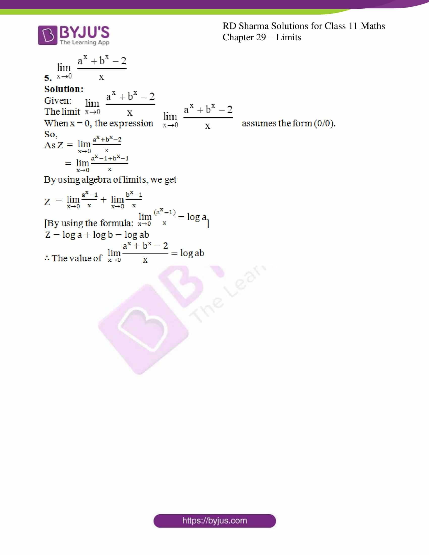 rd sharma class 11 maths chapter 29 ex 10 4