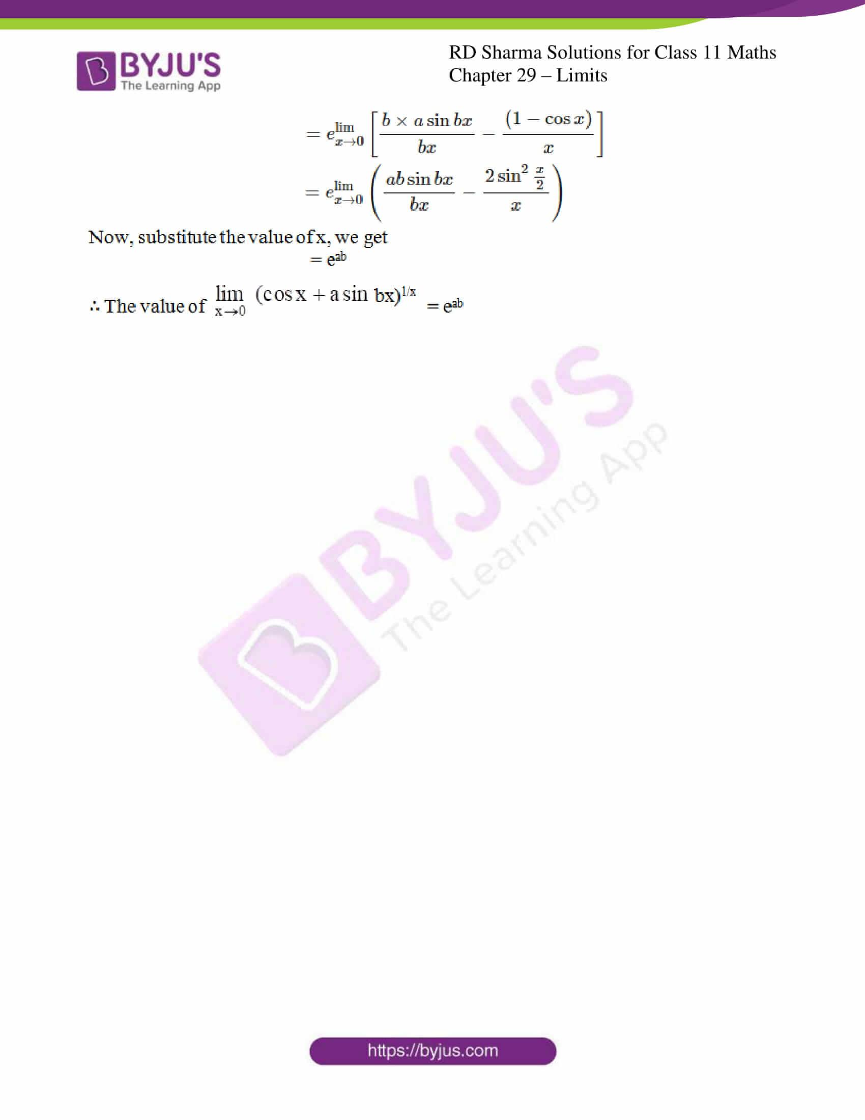 rd sharma class 11 maths chapter 29 ex 11 4