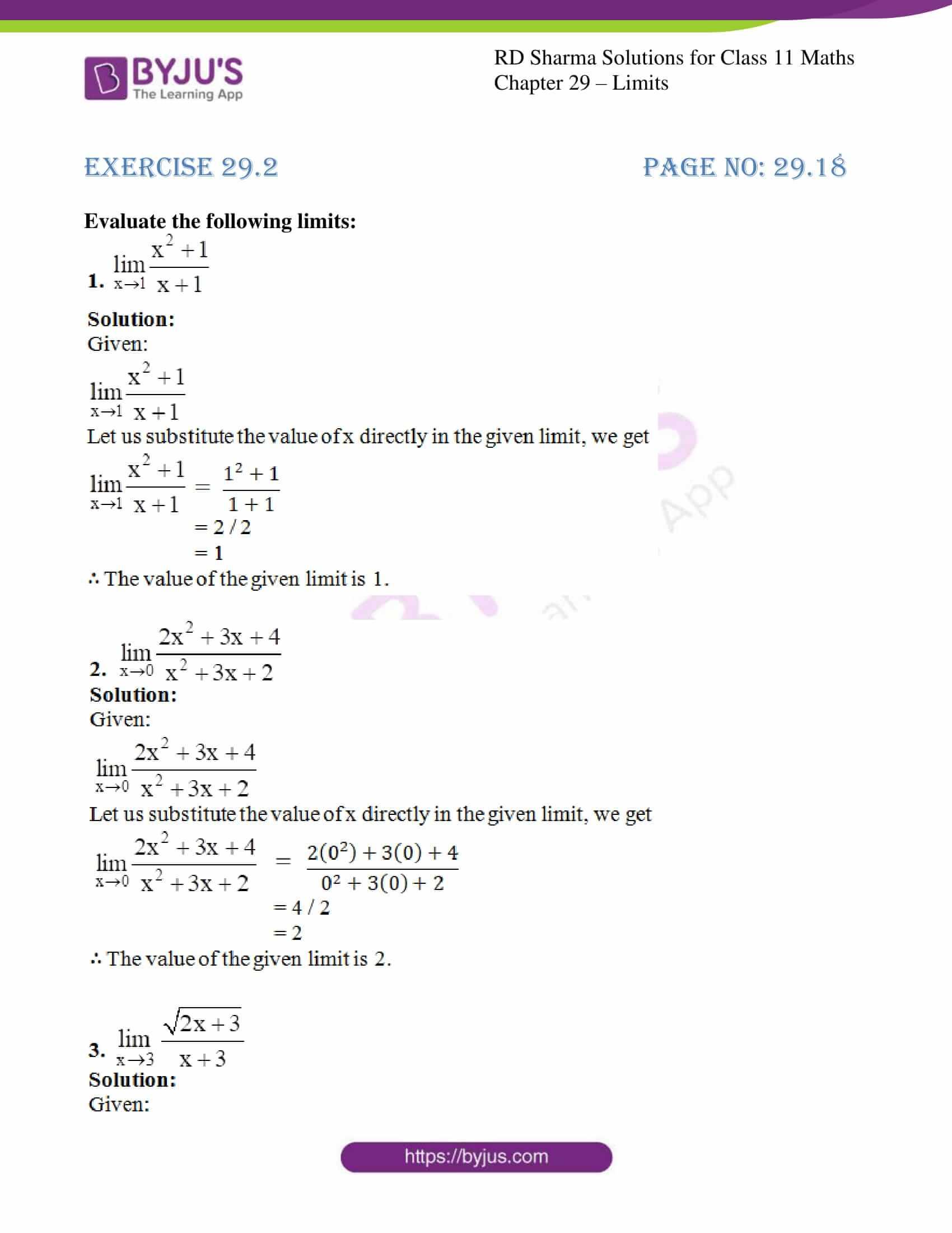 rd sharma class 11 maths chapter 29 ex 2 1