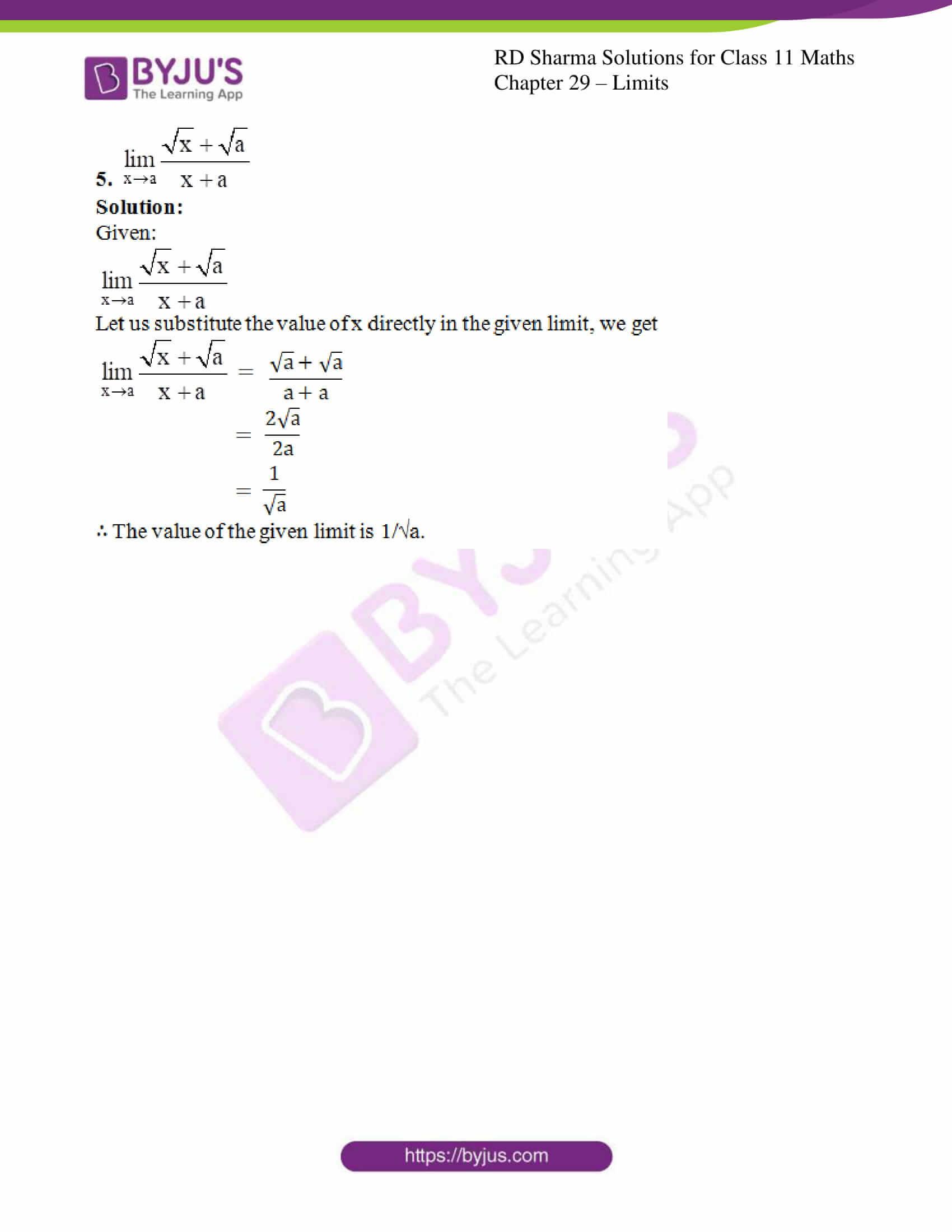rd sharma class 11 maths chapter 29 ex 2 3