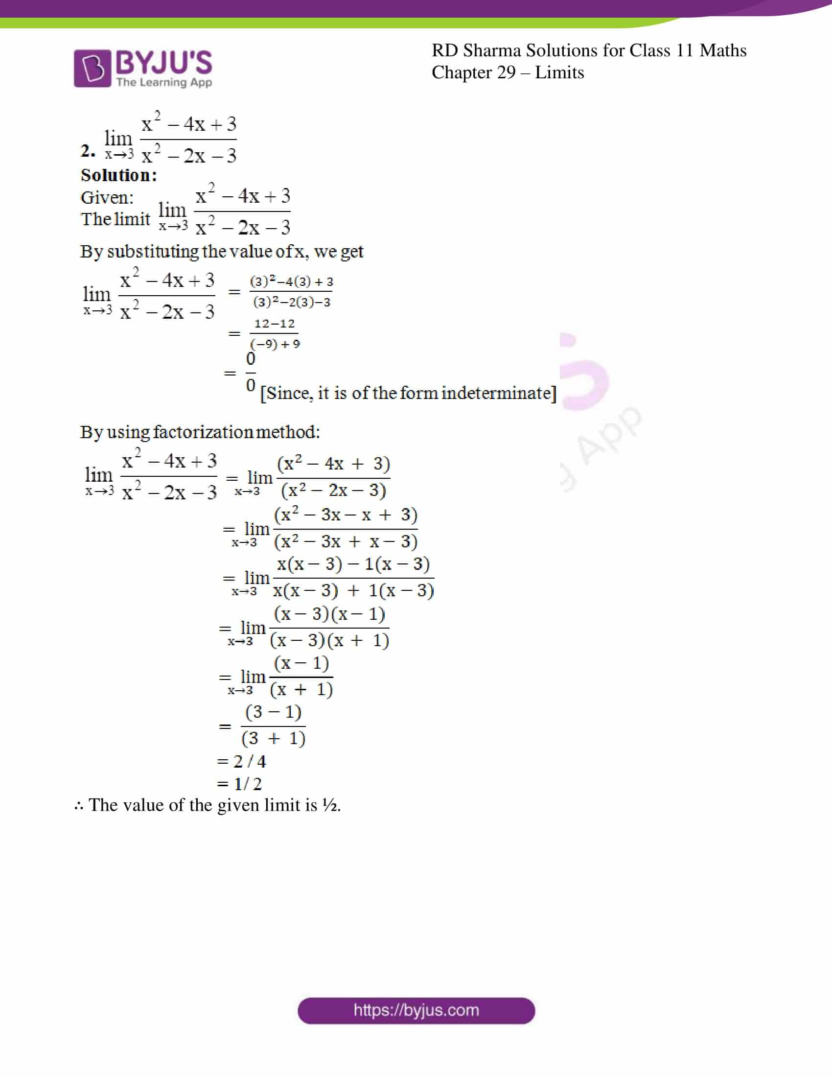 rd sharma class 11 maths chapter 29 ex 3 2
