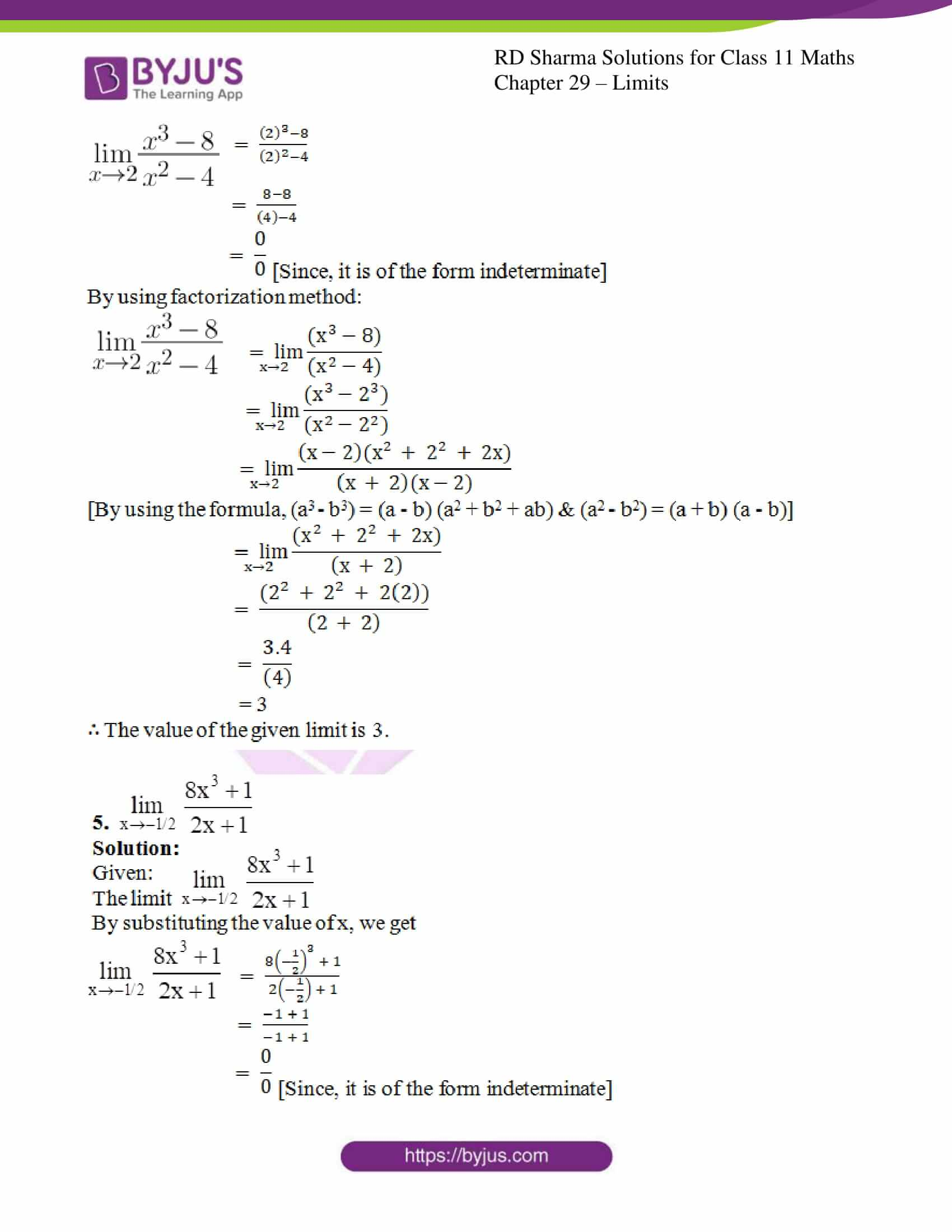 rd sharma class 11 maths chapter 29 ex 3 4