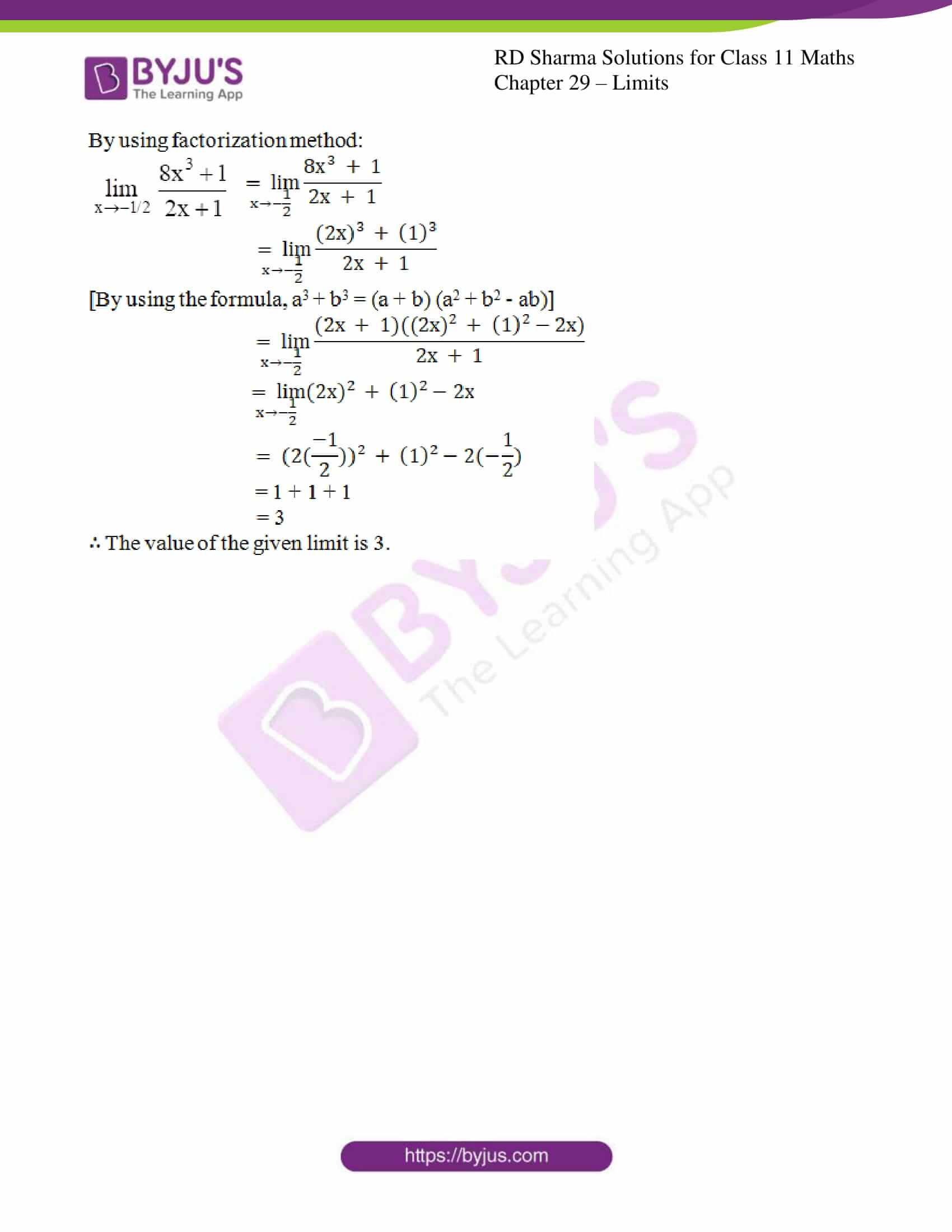 rd sharma class 11 maths chapter 29 ex 3 5