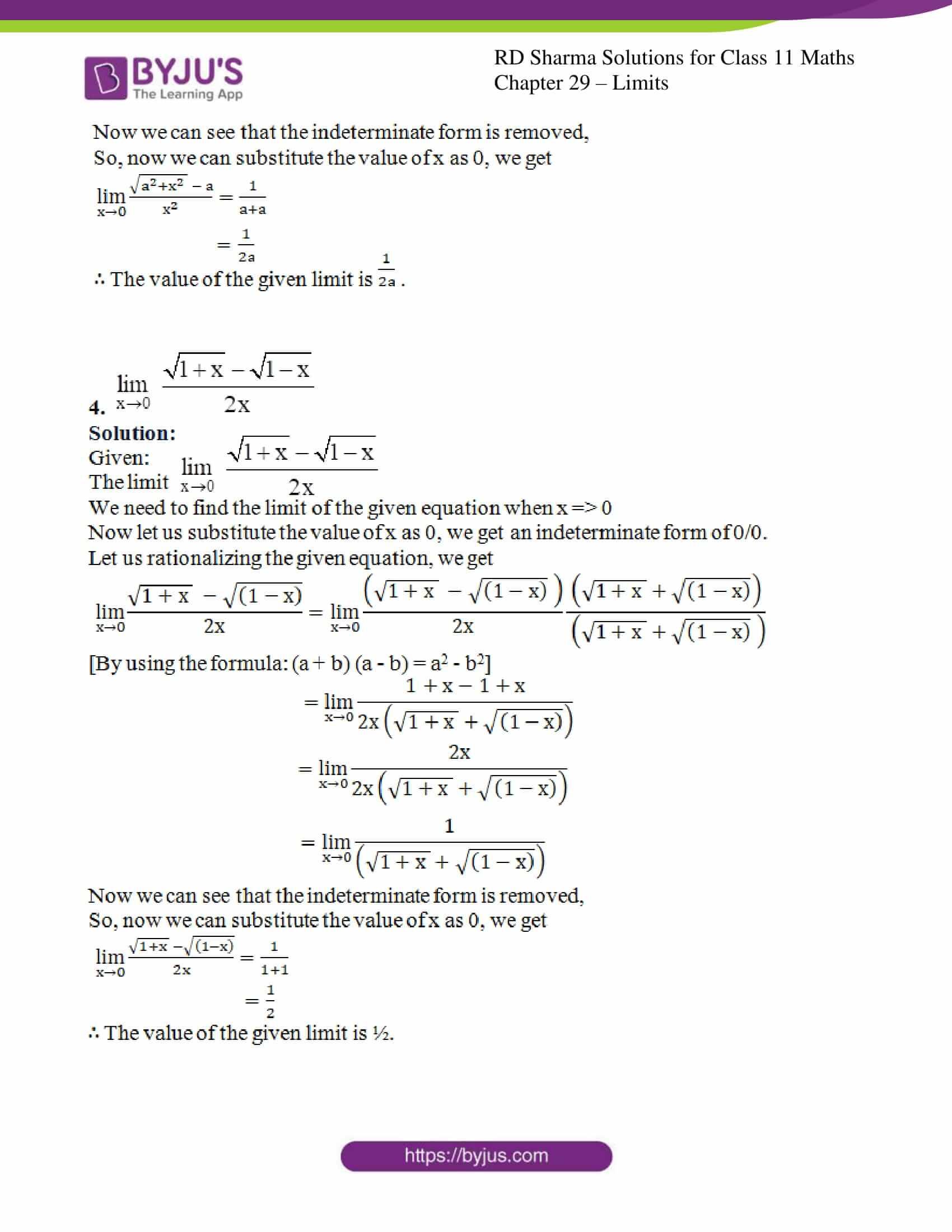 rd sharma class 11 maths chapter 29 ex 4 3