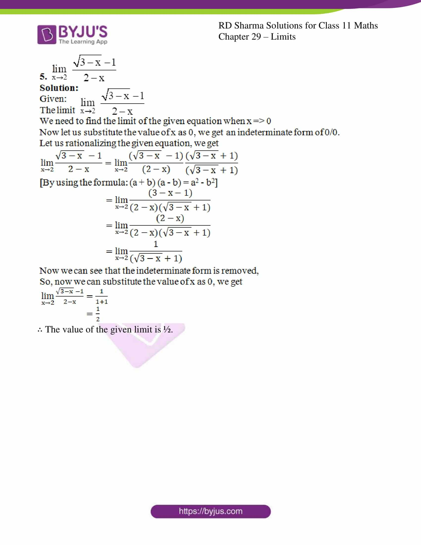 rd sharma class 11 maths chapter 29 ex 4 4